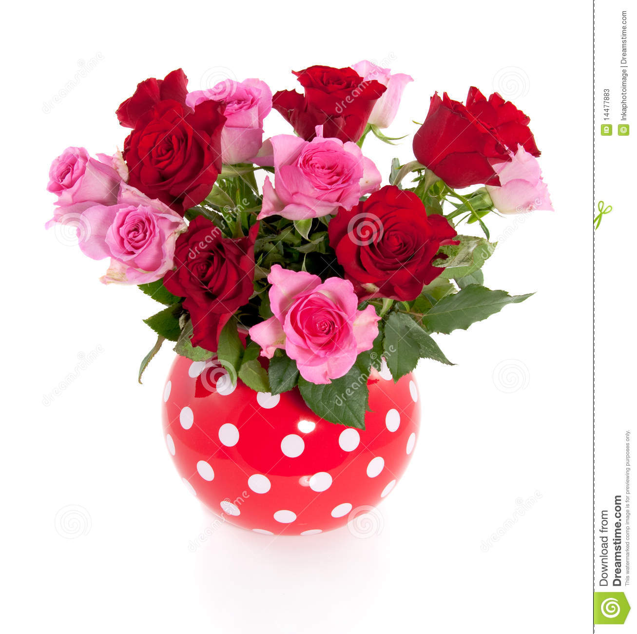 Bouquet Of Pink And Red Roses Stock Photos - Image: 14477883