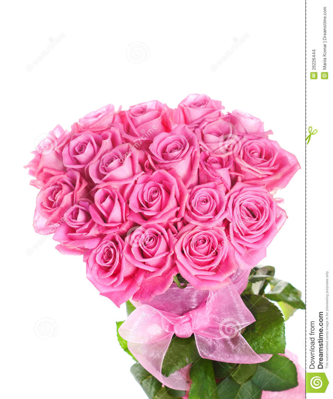 Bouquet of pink roses ...