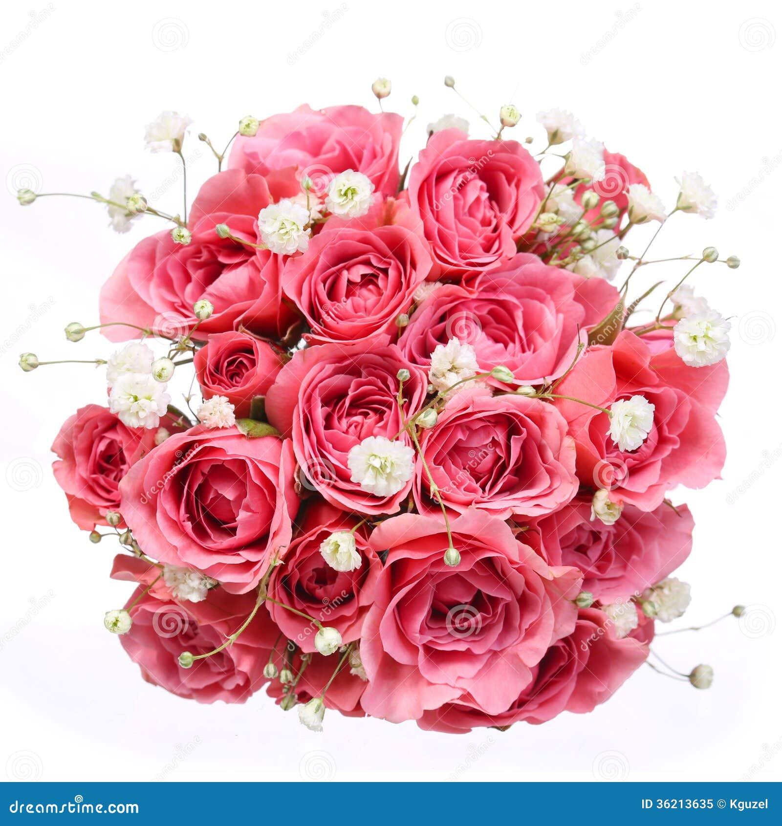 Bouquet of fresh pink roses isolated on white stock photo image of bouquet of pink roses isolated on white background bridal royalty free stock photo izmirmasajfo