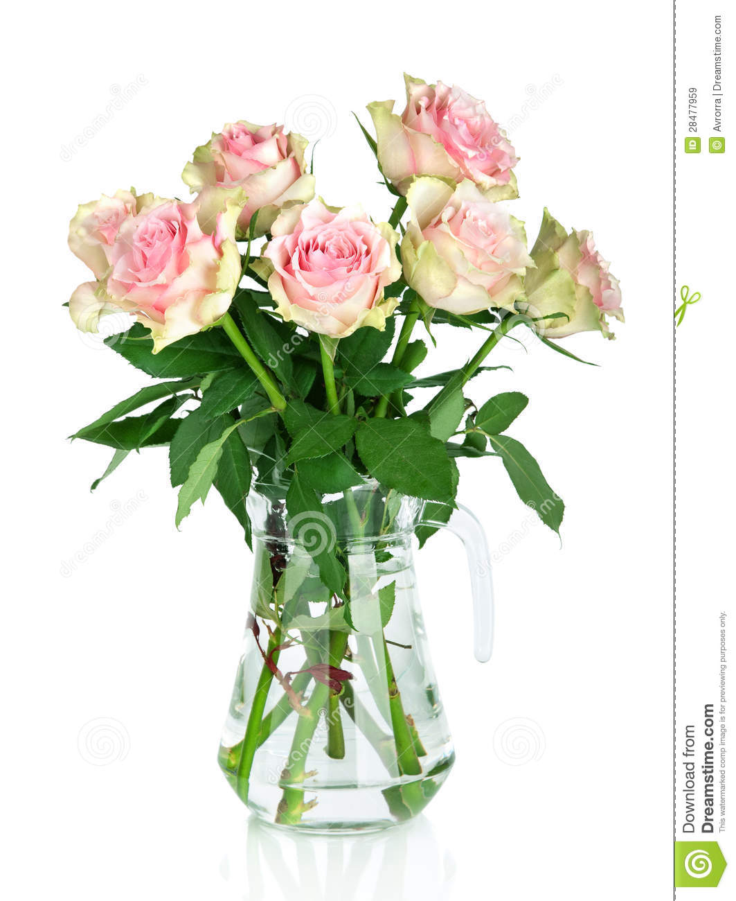 Bouquet Of Pink Roses In A Vase Royalty Free Stock Images ...