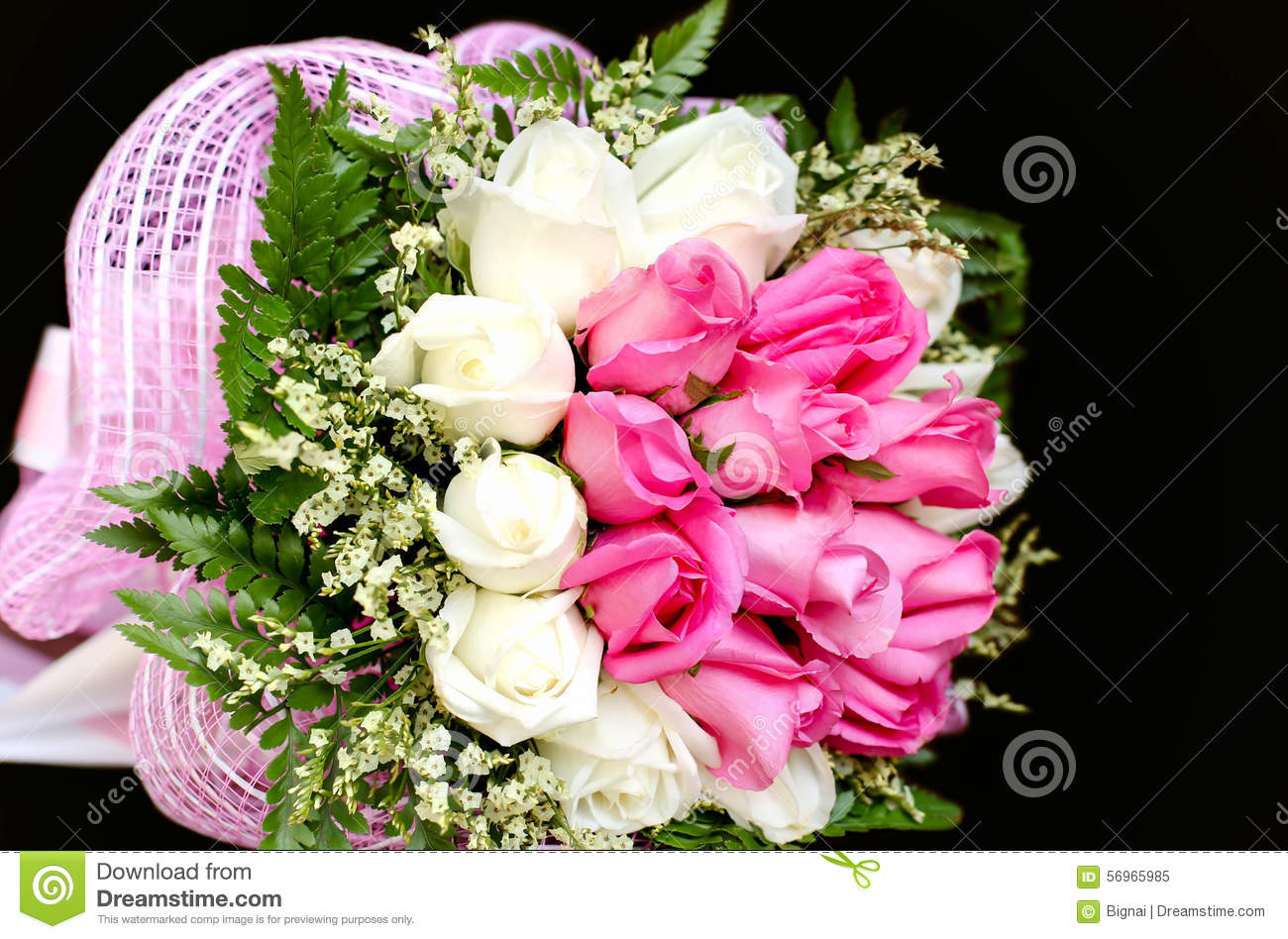 Bouquet of pink and white rose flowers stock image image of bloom bouquet of pink and white rose flowers izmirmasajfo