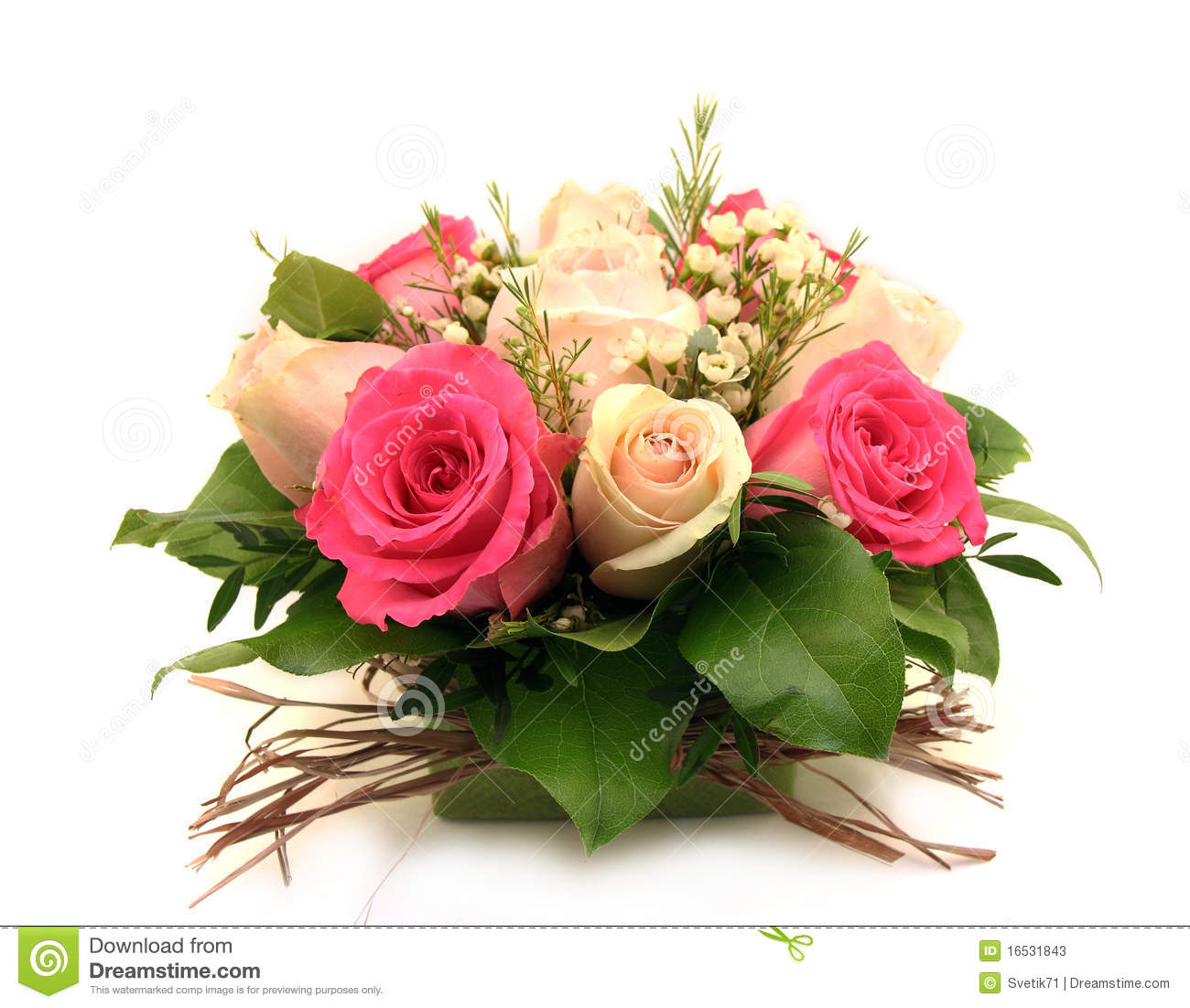 Bouquet rose de roses photos stock image 16531843 for Bouquet de rose