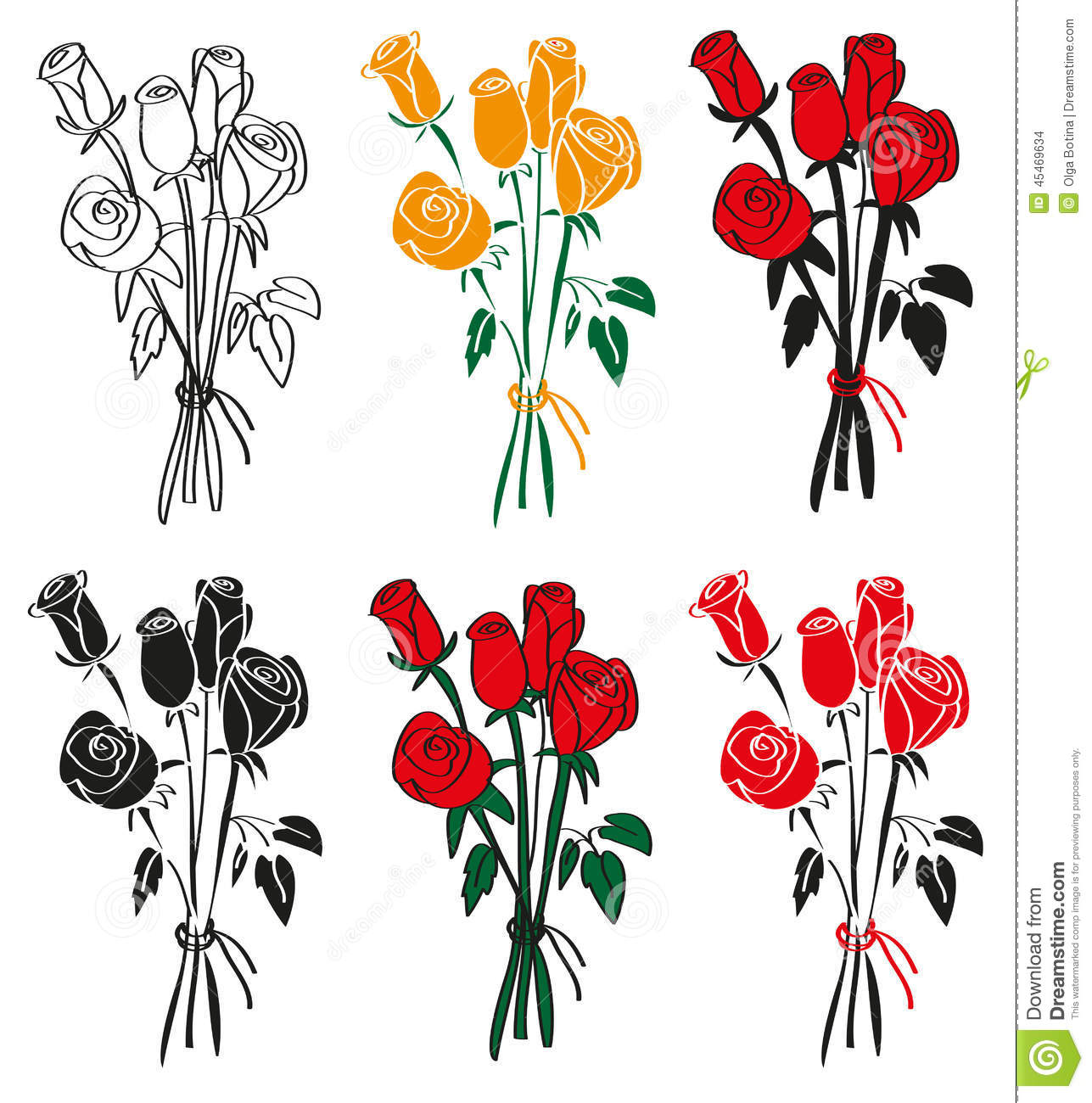 Bouquet of roses stock vector illustration of blossom 45469634 download bouquet of roses stock vector illustration of blossom 45469634 izmirmasajfo