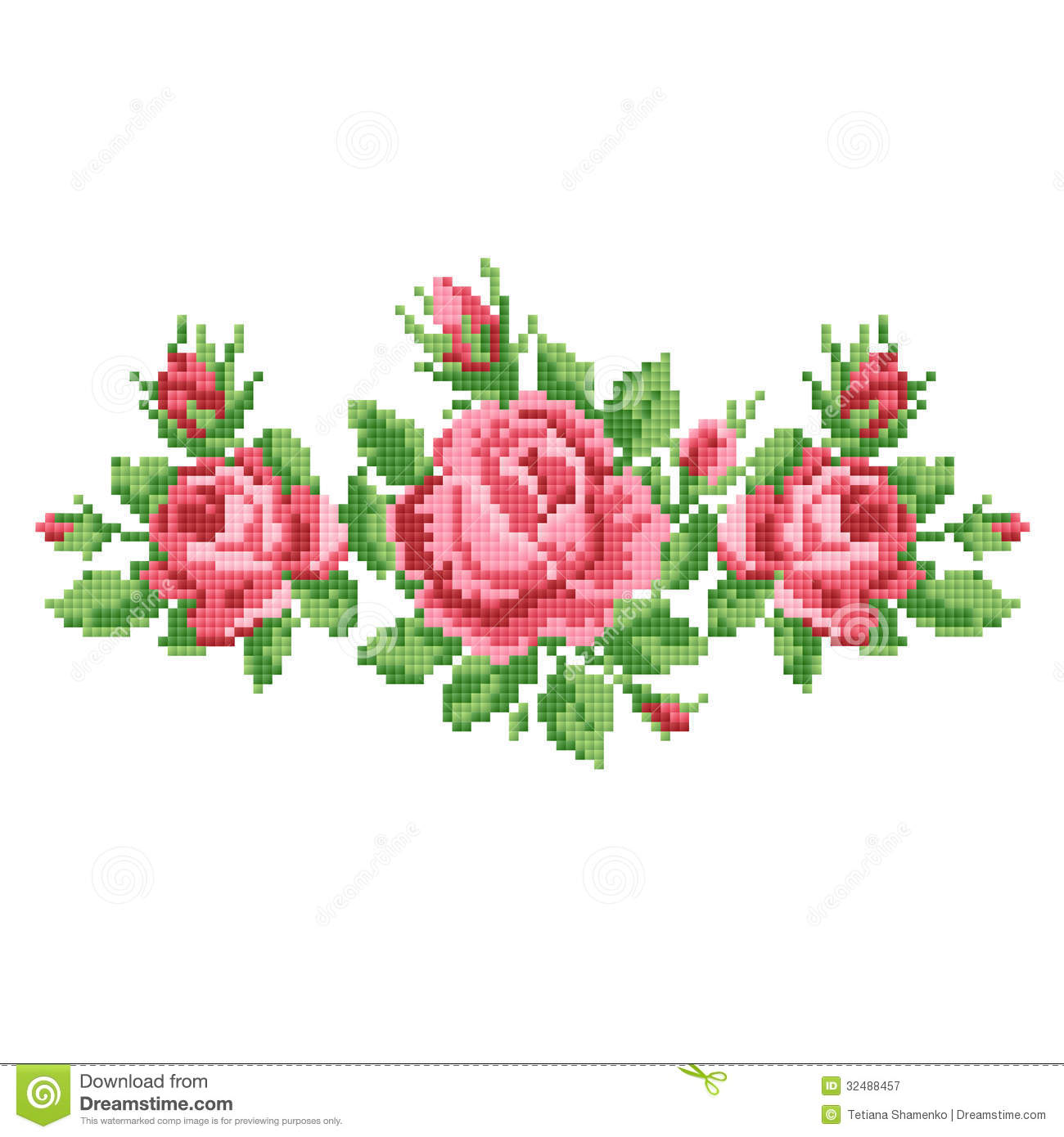 Bouquet Of The Roses Stock Vector. Illustration Of Lace