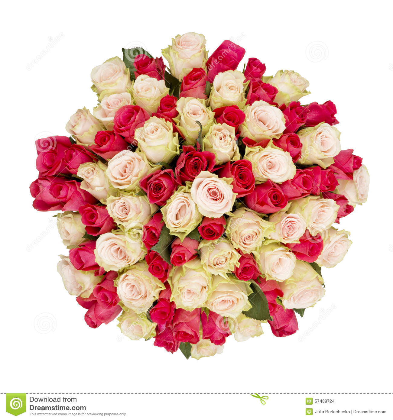 Bouquet of roses top view stock photo image of flower for Biggest bouquet of flowers