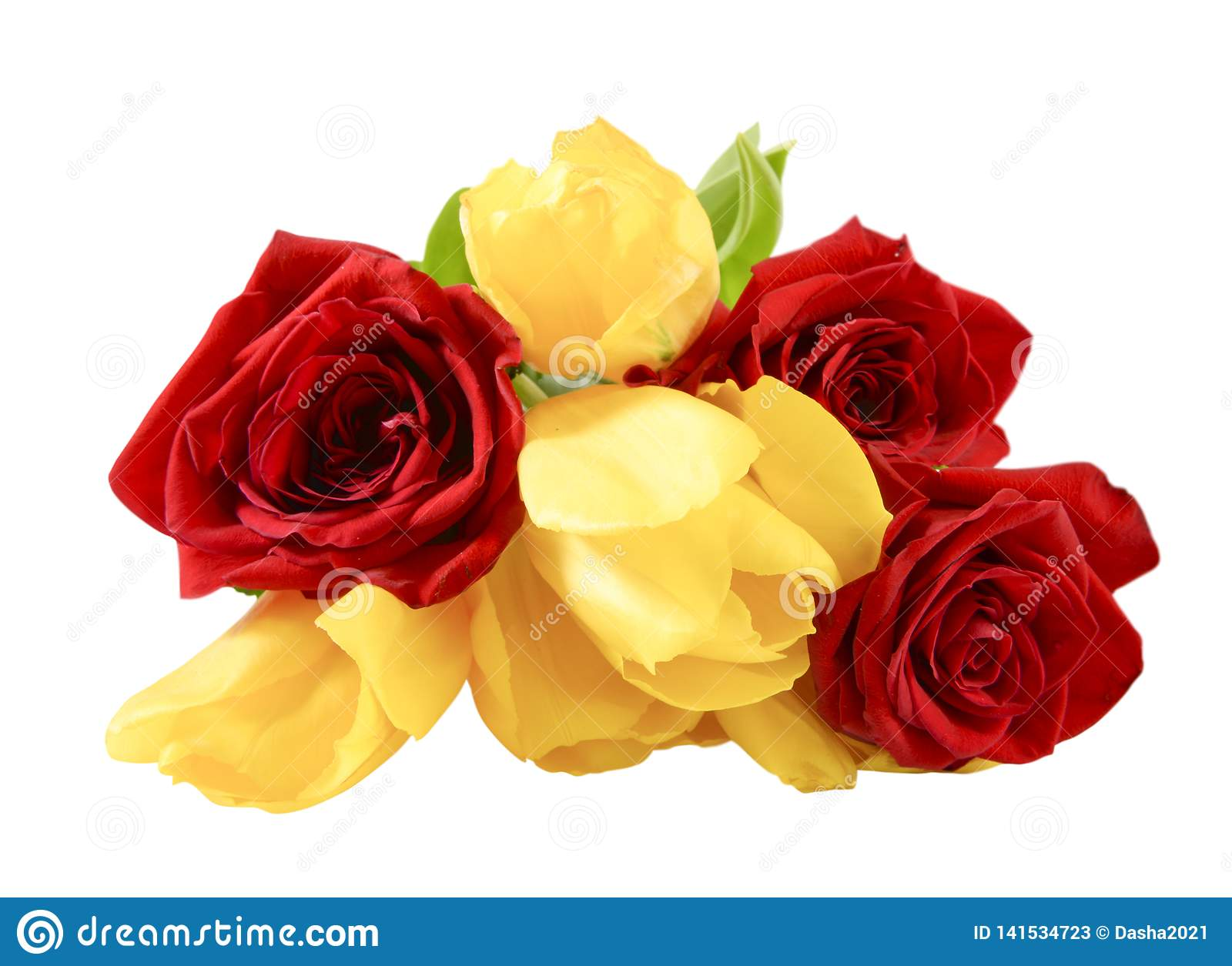 Bouquet Roses And Tulips Stock Image Image Of Beautiful 141534723