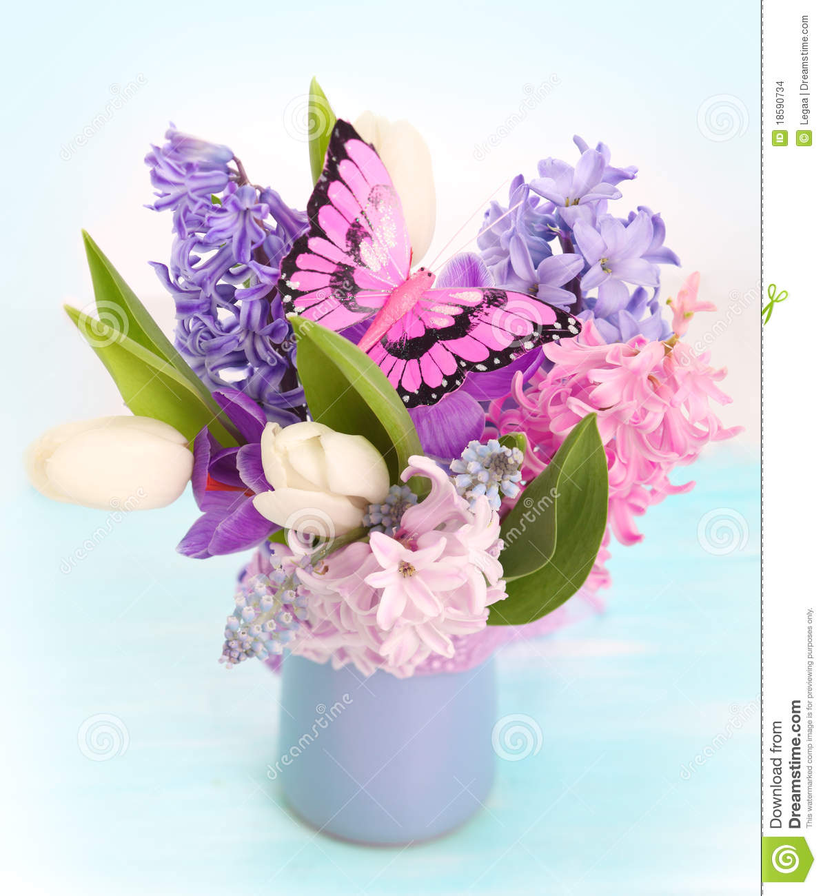Bouquet Spring Flowers Stock Images - Image: 18590734