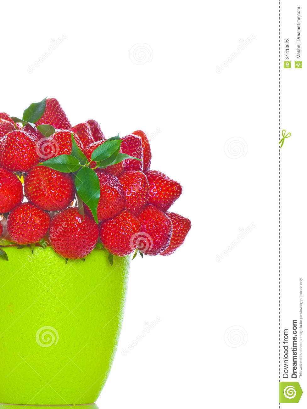Bouquet From Strawberry Berries Stock Photography Image