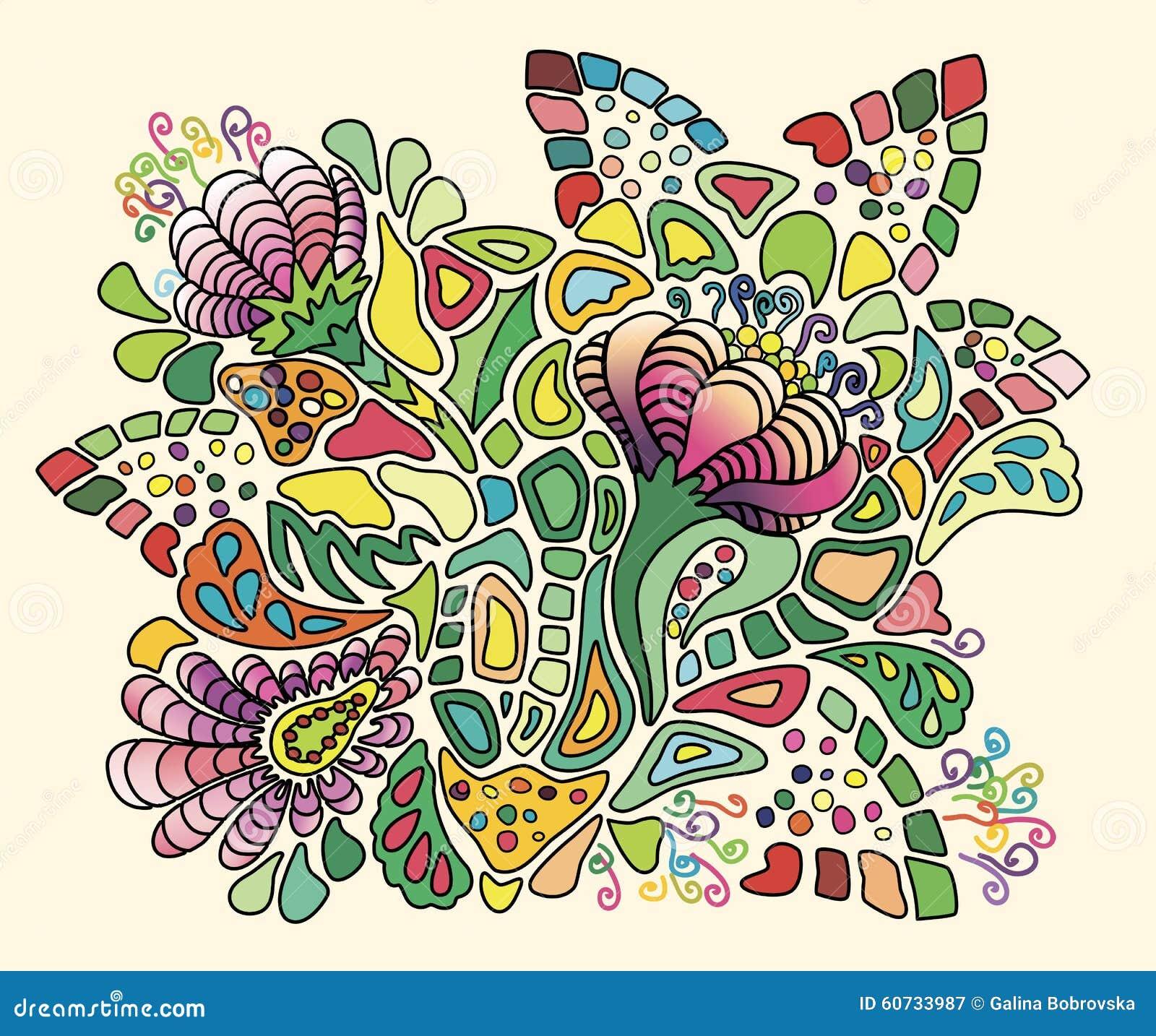 Bouquet stylis des fleurs lumineuses d 39 t illustration for Bouquet de fleurs lumineux
