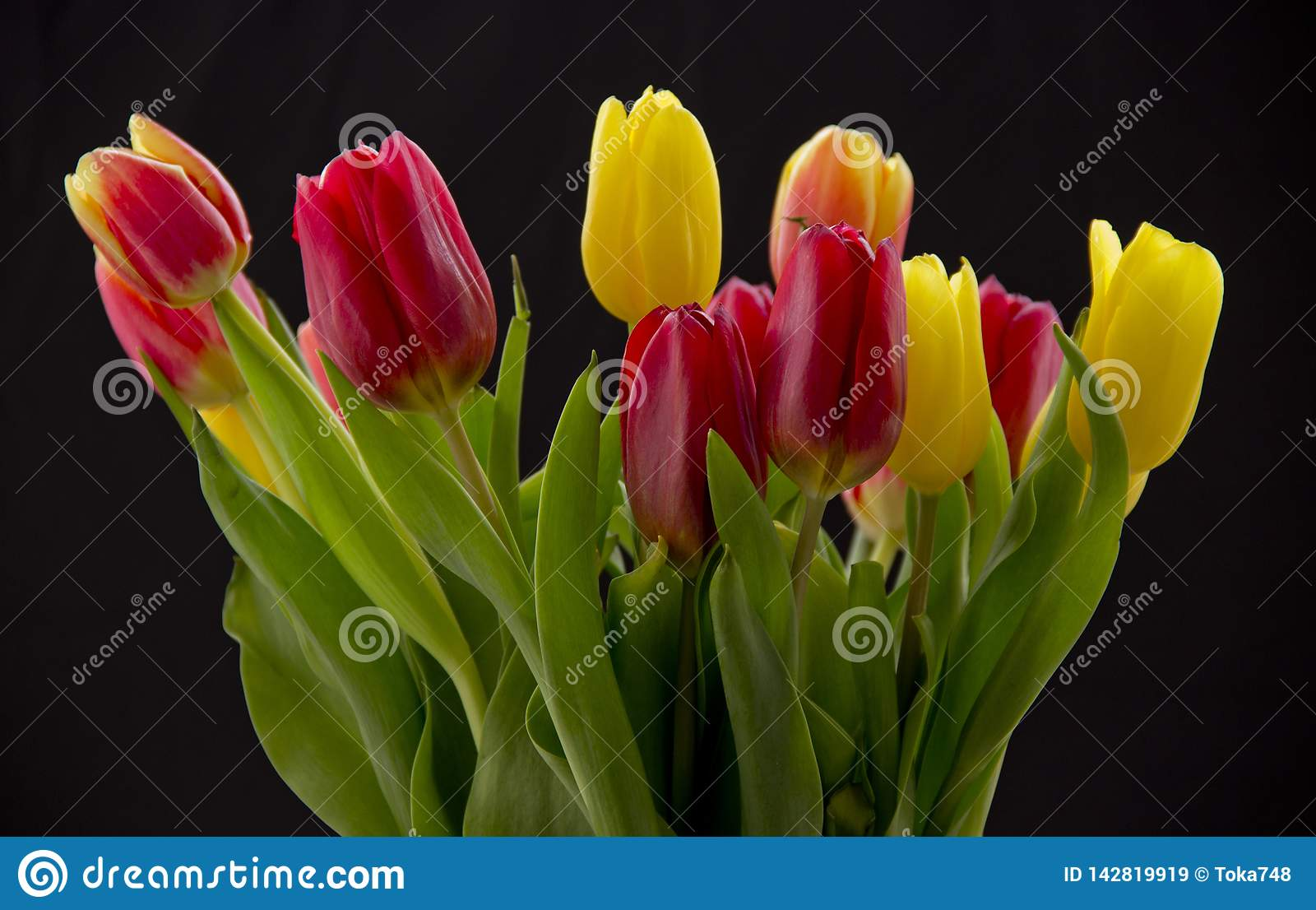 Bouquet with tulips
