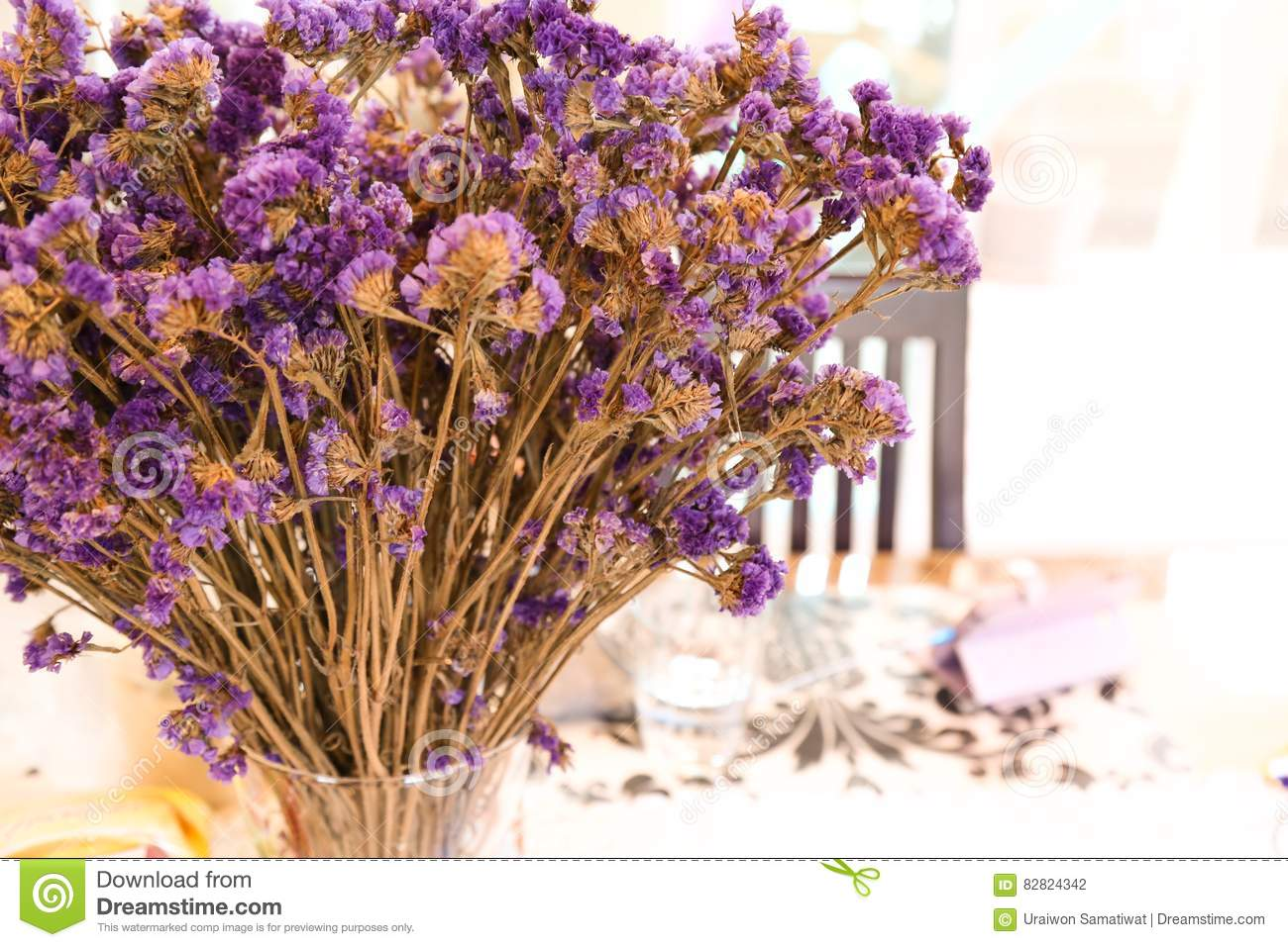 A bouquet of violet flower in vase ready for celebrate for this a bouquet of violet flower in vase ready for celebrate for this dinner izmirmasajfo