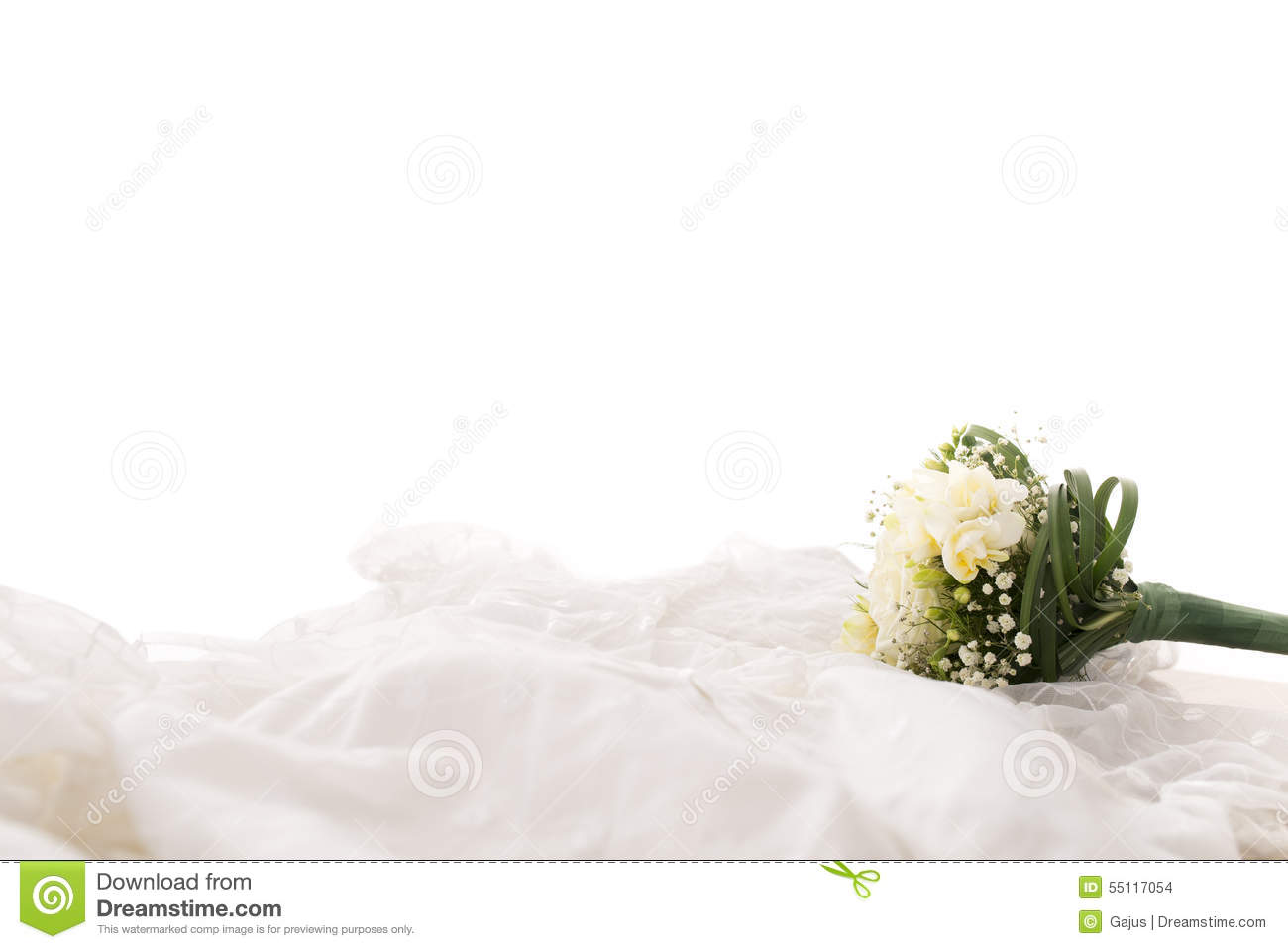Bouquet Of White Flowers On White Background Stock Photo Image Of