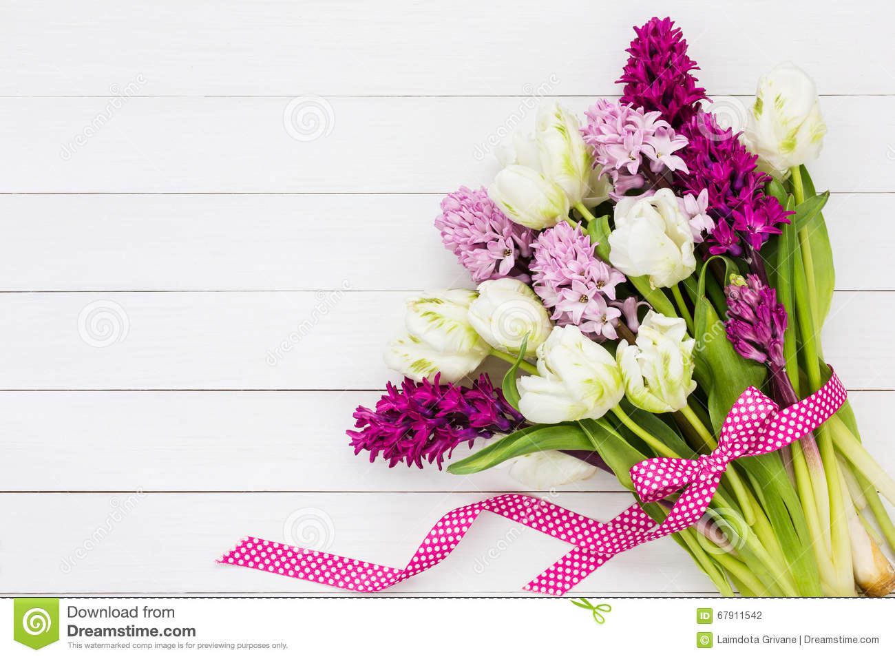 Bouquet of white tulips and pink hyacinth flowers copy space bouquet flowers hyacinth dhlflorist Choice Image