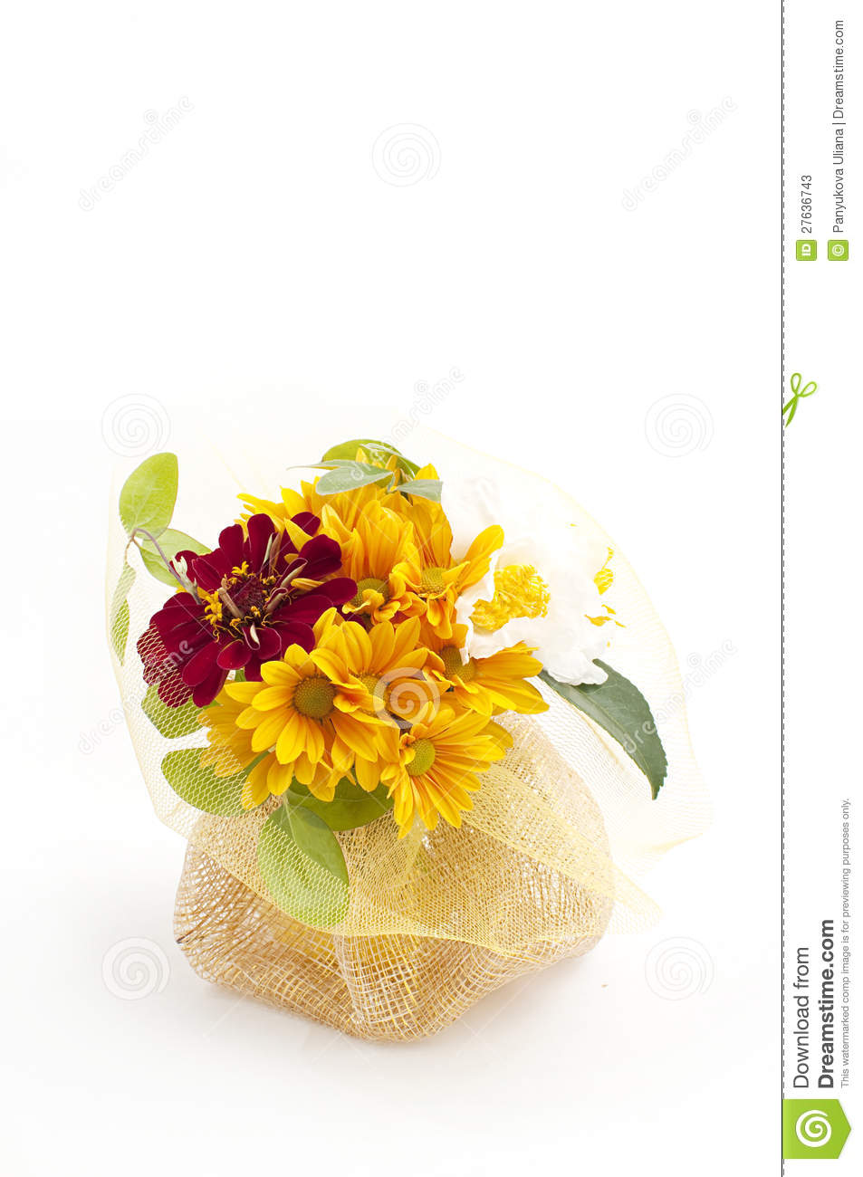 Bouquet Of Yellow Chrysanthemum Stock Photos - Image: 27636743