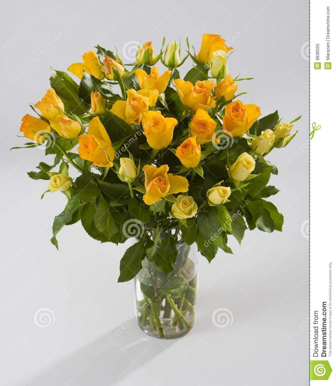 Bouquet Of Yellow Roses Stock Image Image Of Rose Posy 8836555