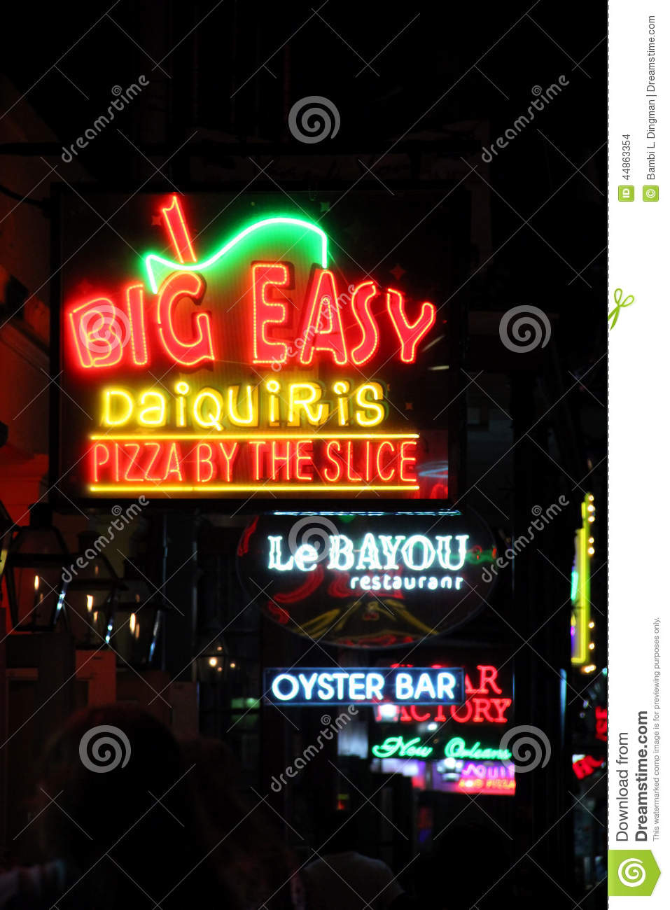 Bourbon Street Neon Signs Editorial Stock Image Image Of