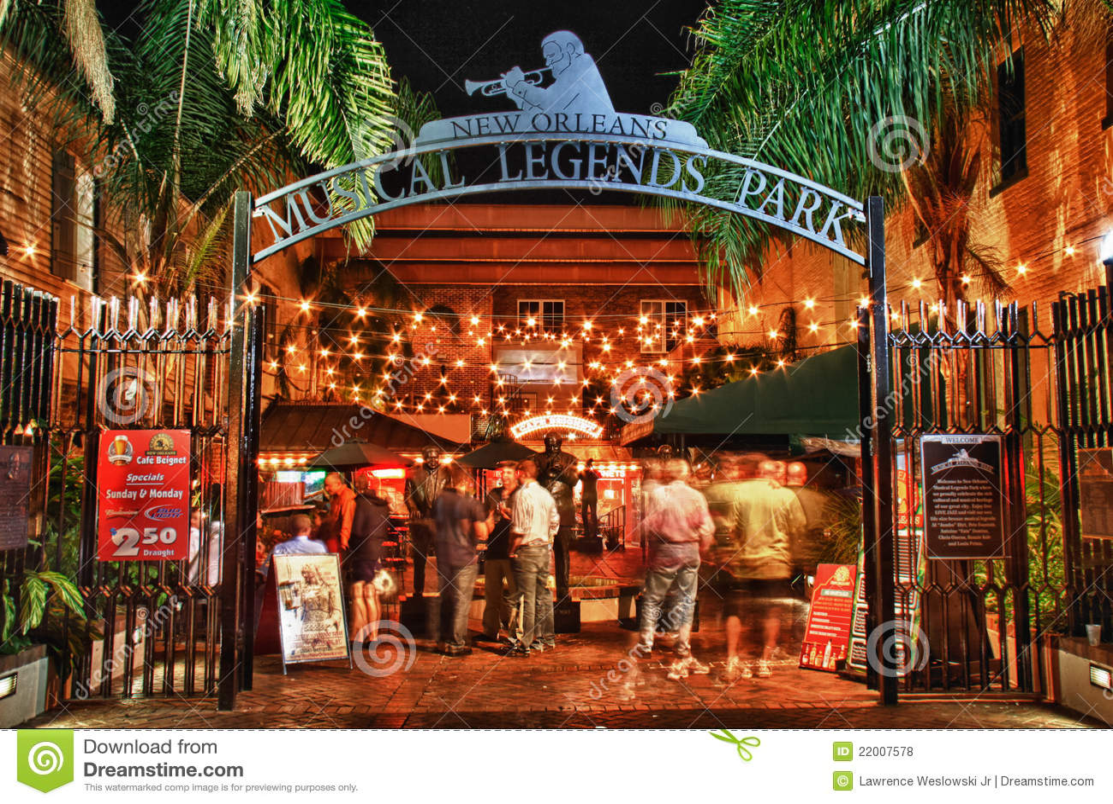 Bourbon Uliczny Nowy Orlean - Legenda Muzykalny Park