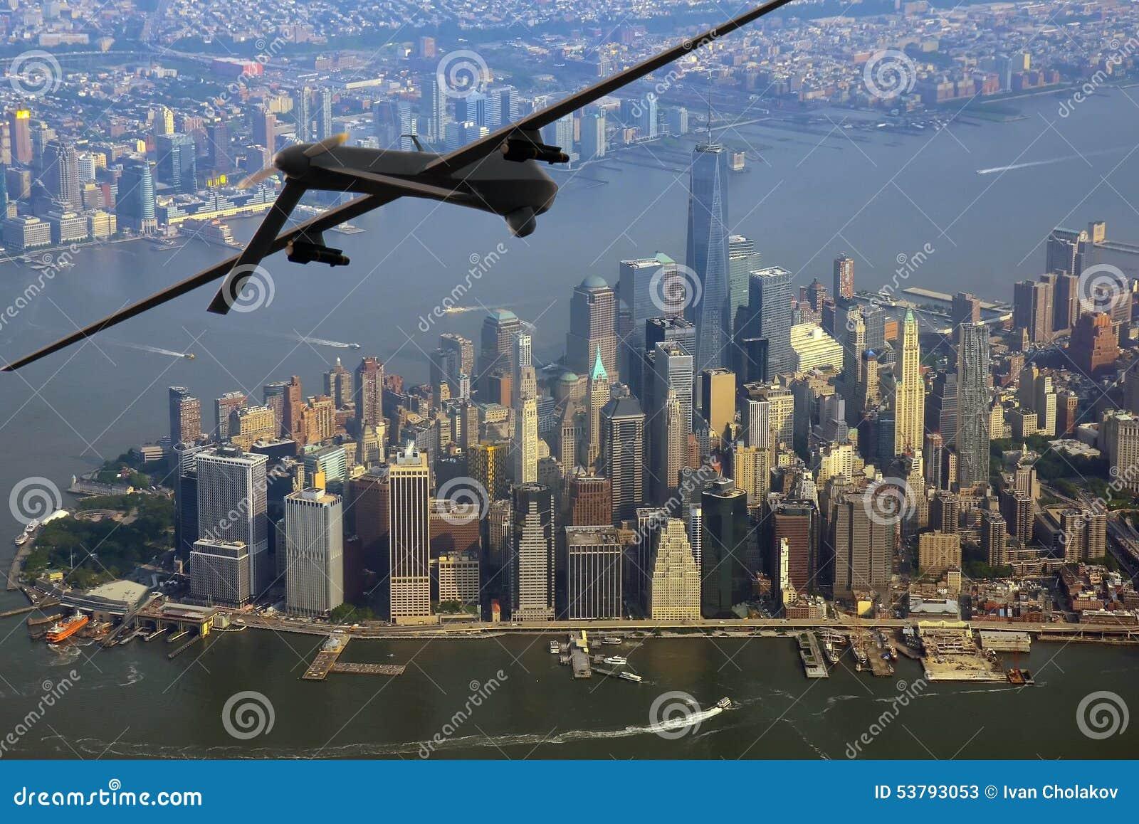 Bourdon au-dessus de New York City