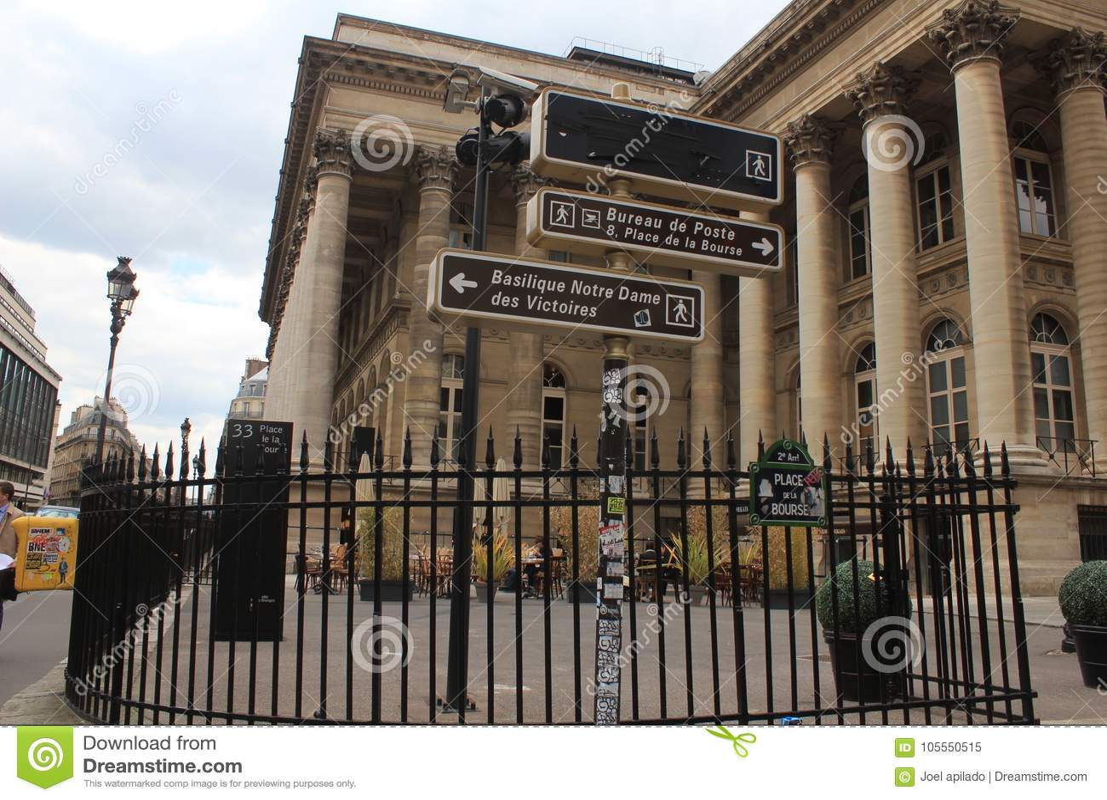 Bourse editorial image image of money paris building