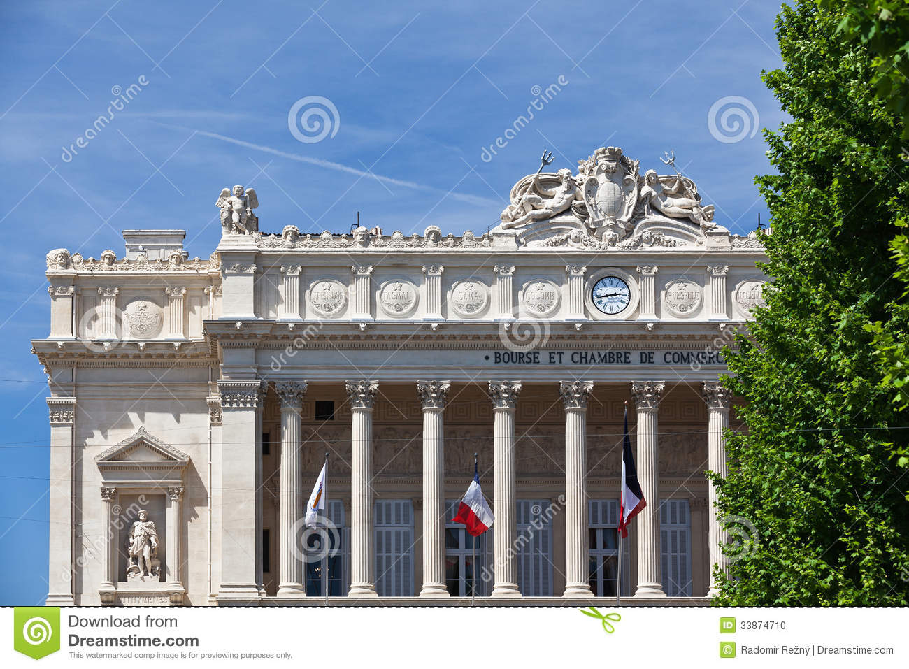 bourse et chambre de commerce in marseille stock photo