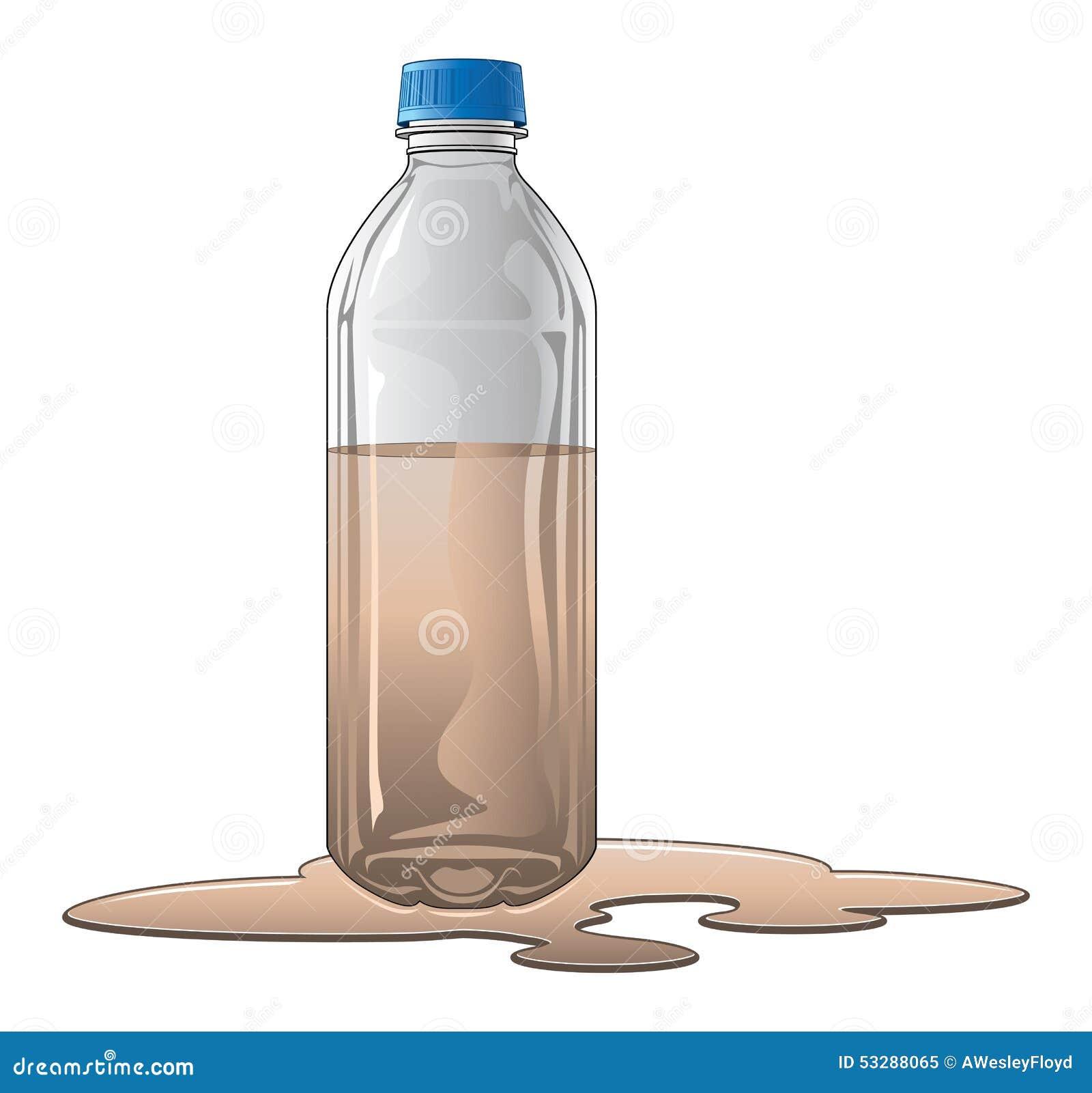 bouteille avec de l 39 eau sale illustration de vecteur illustration du souill sant 53288065. Black Bedroom Furniture Sets. Home Design Ideas