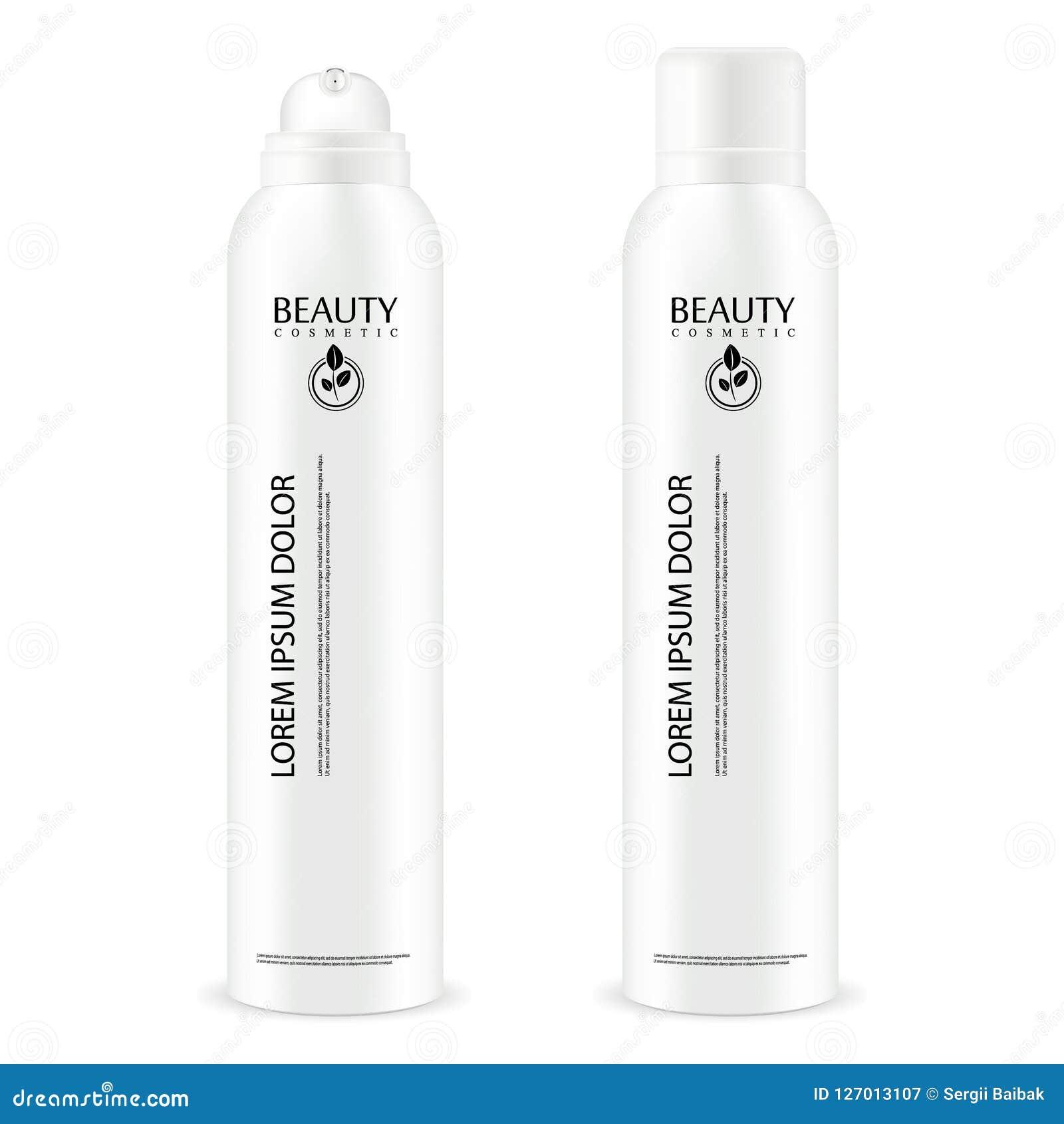 Bouteille basse faciale de cosmétique de jet de pompe de distributeur Paquet 3d réaliste avec le couvercle transparent pour diffé