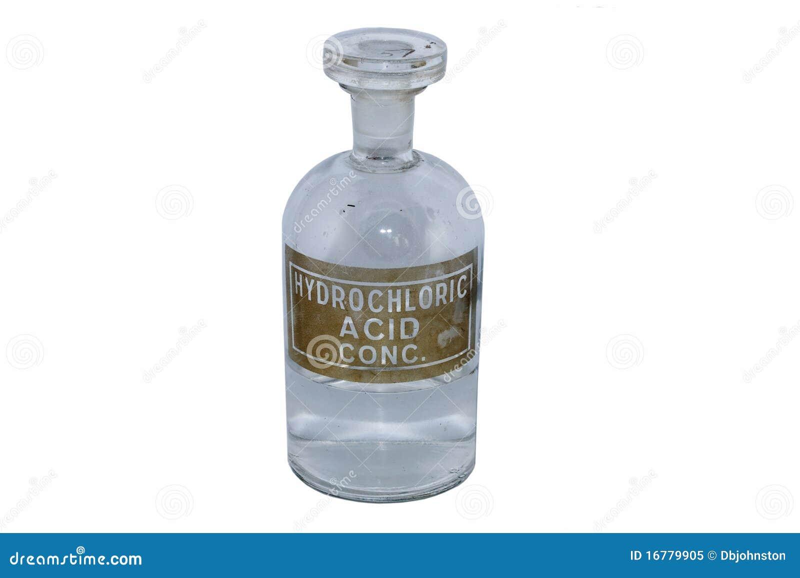 Bouteille d 39 acide chlorhydrique image stock image du - Acide chlorhydrique utilisation ...