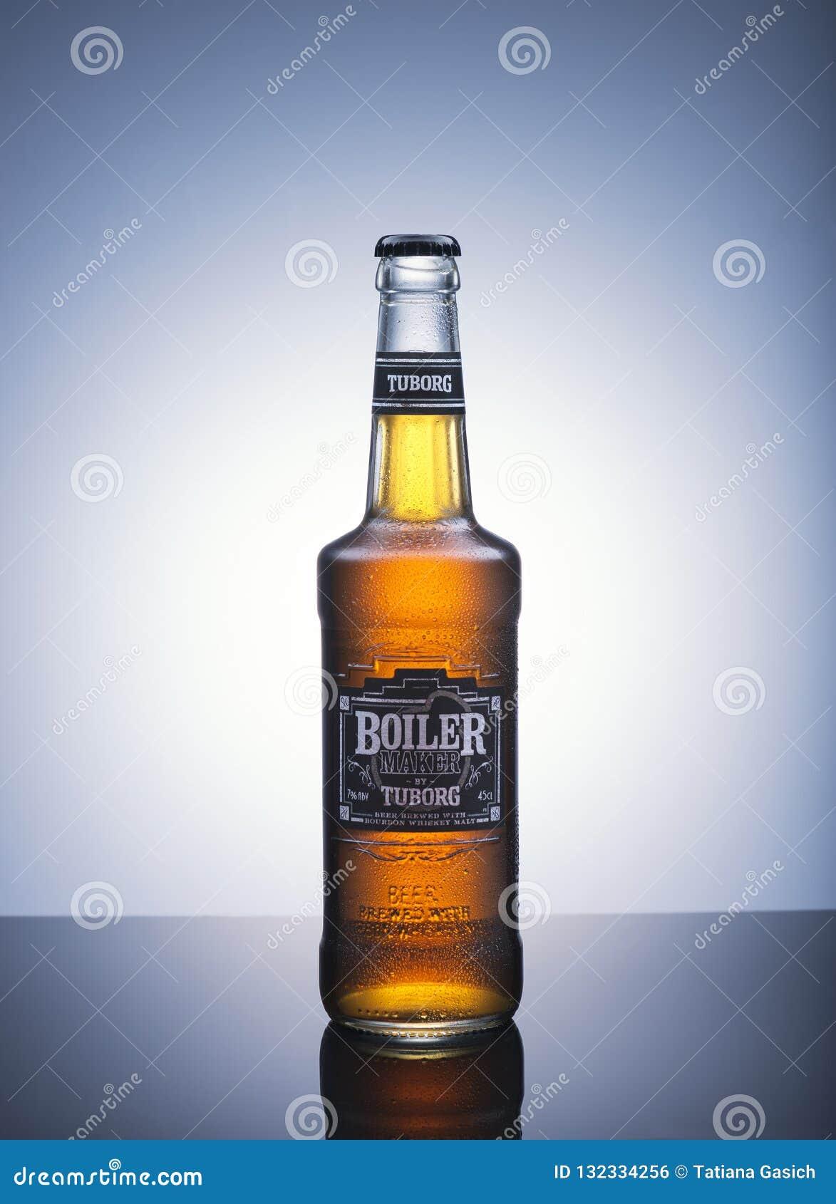 Bouteille de fabricant de chaudière de bière par Tuborg