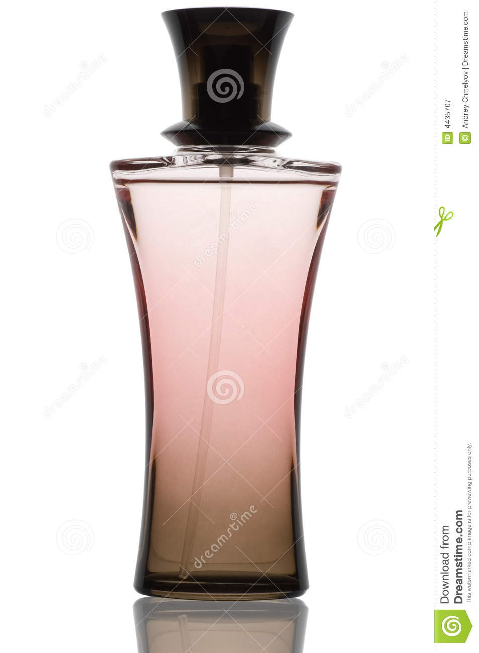 Top Bouteille De Parfum Rose Photographie stock libre de droits  CO44