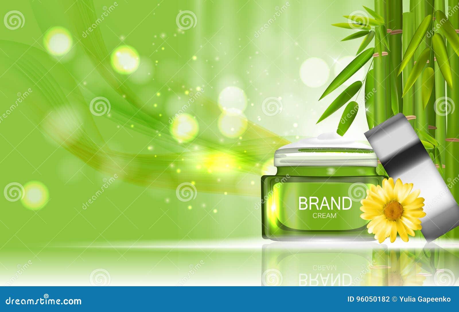 Bouteille de produit de cosmétiques de conception de bouteille de crème de visage avec les fleurs C