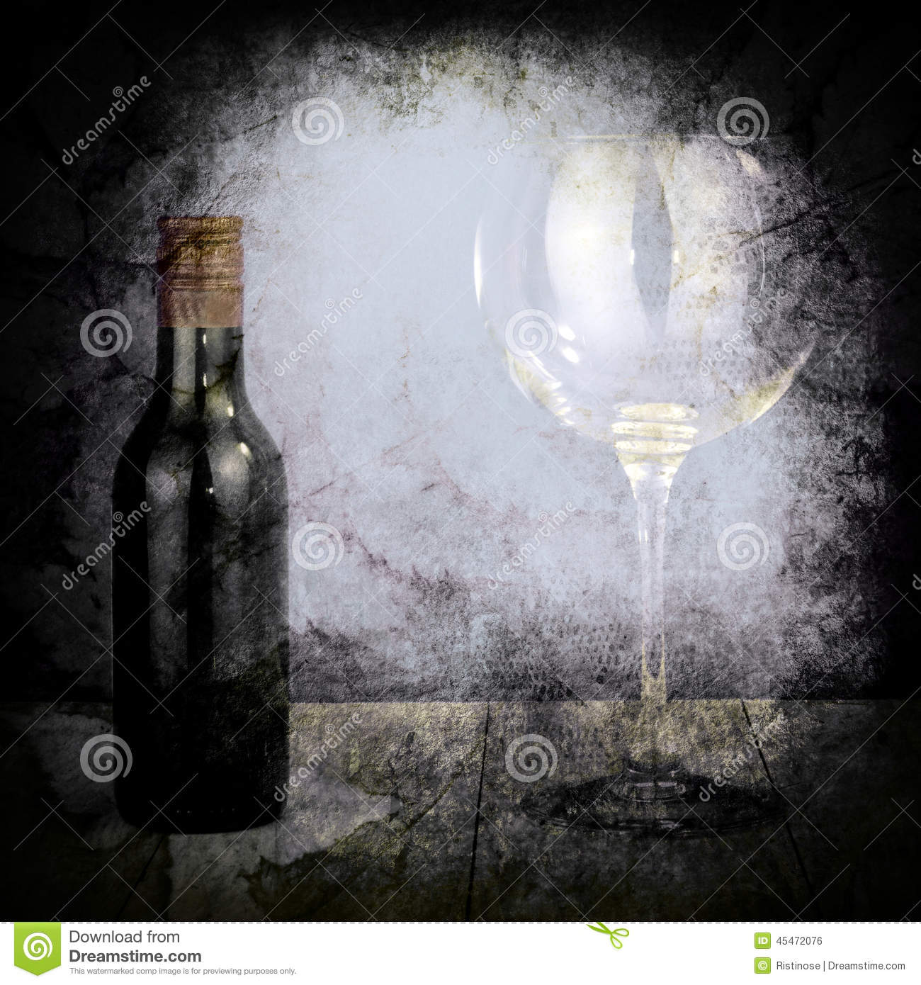 bouteille de vin et de grand verre photo stock image 45472076. Black Bedroom Furniture Sets. Home Design Ideas