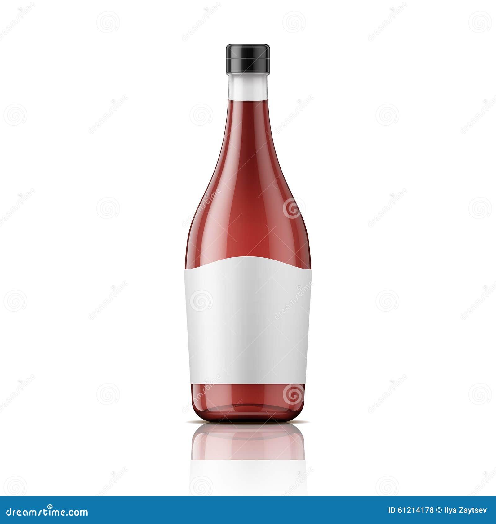 bouteille de vinaigre de vin avec le chapeau et le label illustration de vecteur image 61214178. Black Bedroom Furniture Sets. Home Design Ideas