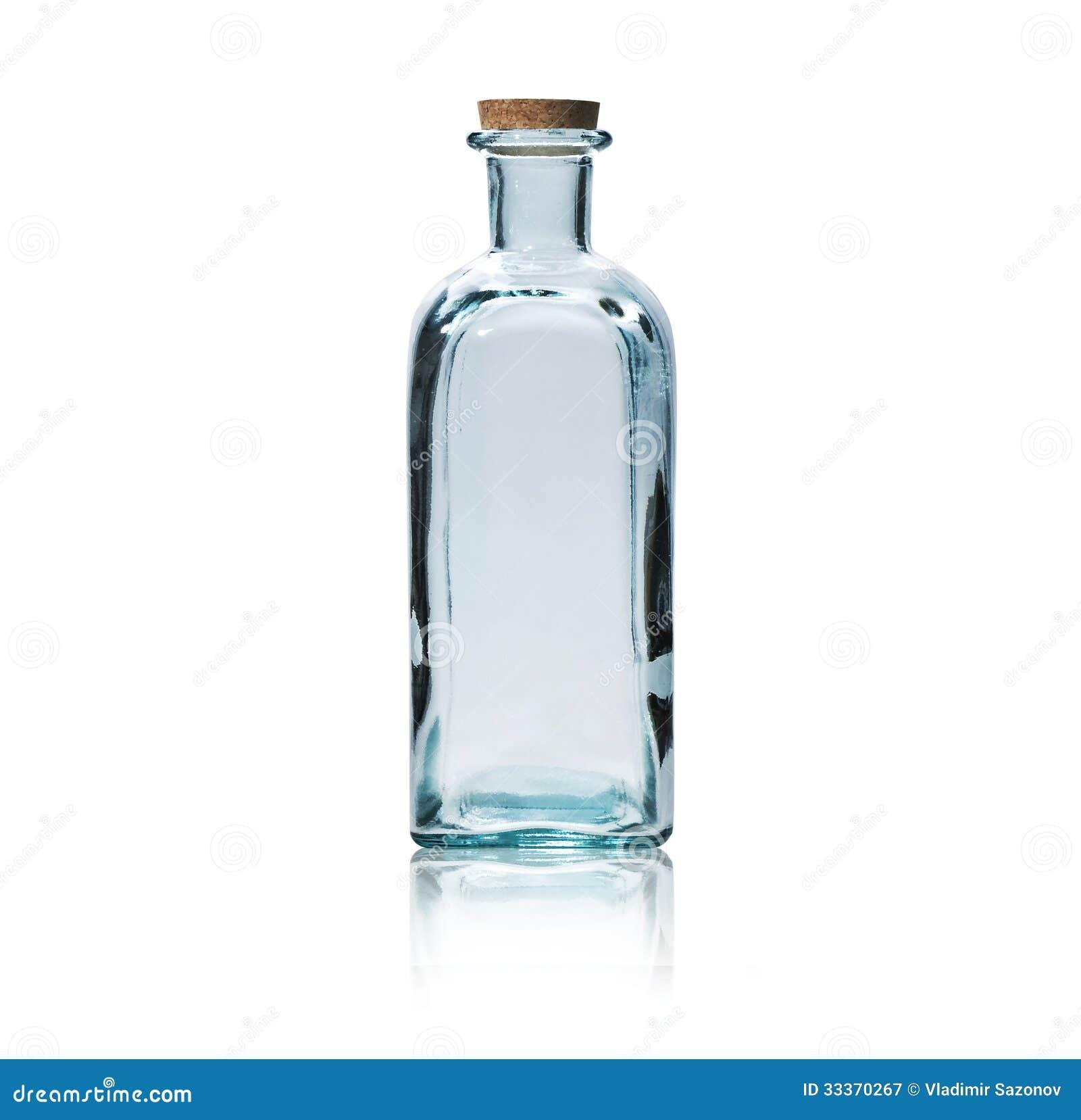 bouteille en verre vide avec le bouchon de li ge photographie stock libre de droits image. Black Bedroom Furniture Sets. Home Design Ideas
