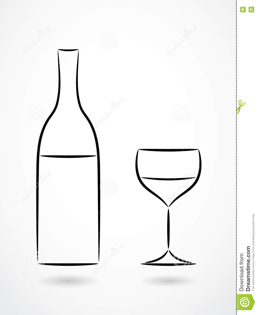 bouteille et verre du dessin de d coupe de vin illustration de vecteur image 78792458. Black Bedroom Furniture Sets. Home Design Ideas