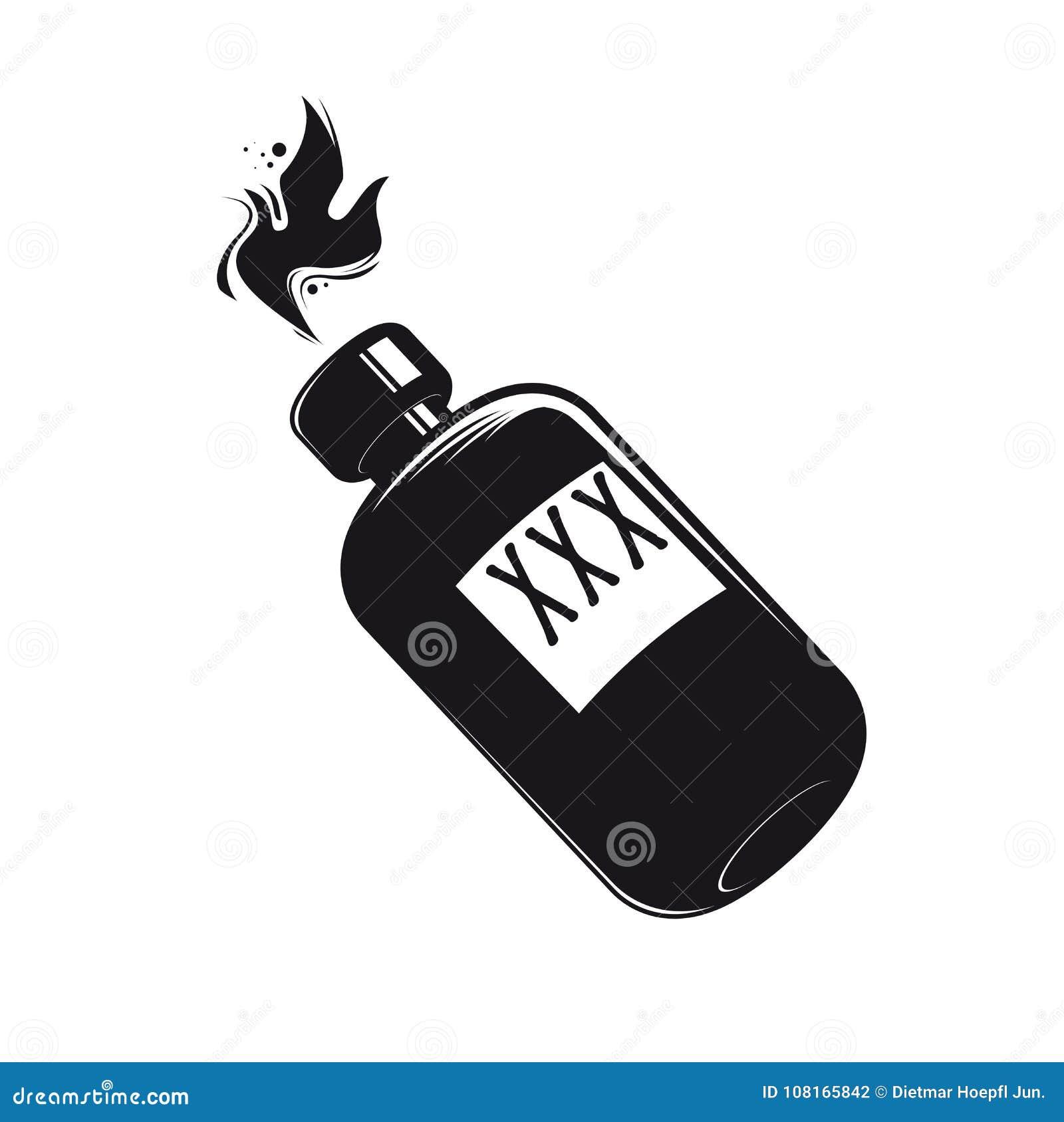 Bouteille Noire Avec Le Clipart De Boissons Alcoolisees Illustration De Vecteur Illustration Du Noire Clipart 108165842