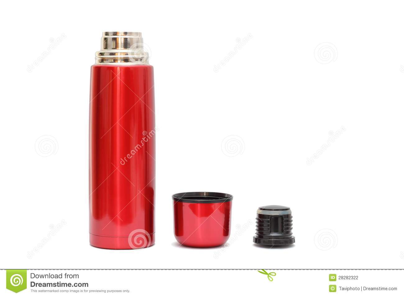 Bouteille thermo rouge