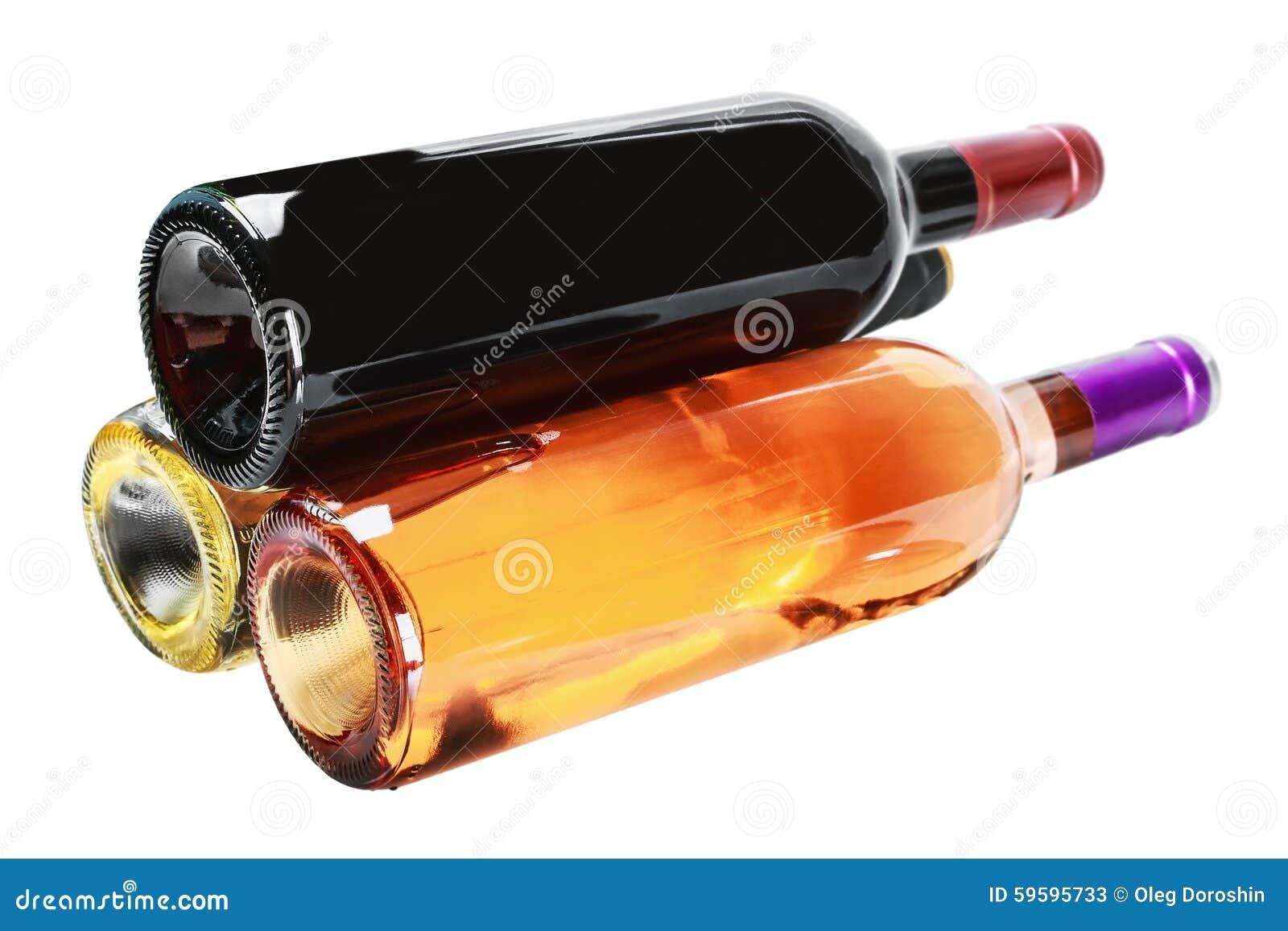 Bouteilles de vin de différentes sortes