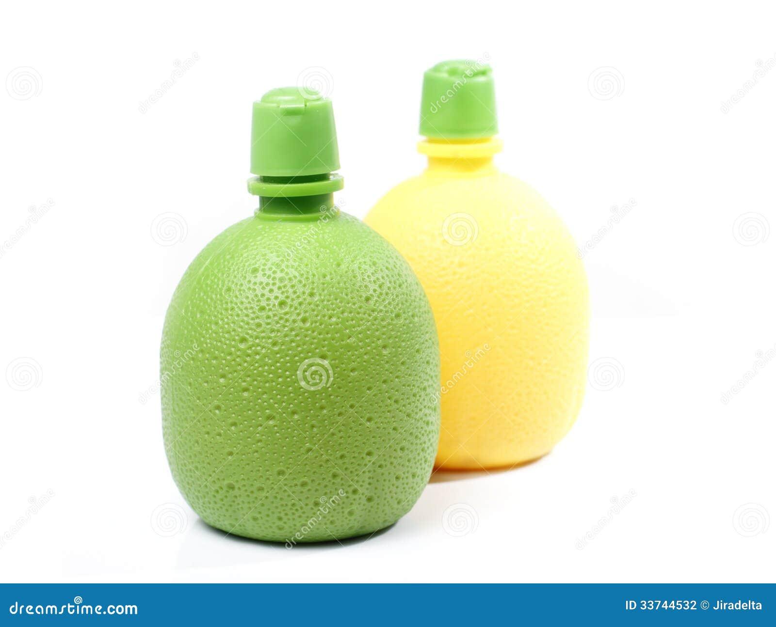 bouteilles en plastique d 39 orange et de jus de citron photographie stock image 33744532. Black Bedroom Furniture Sets. Home Design Ideas