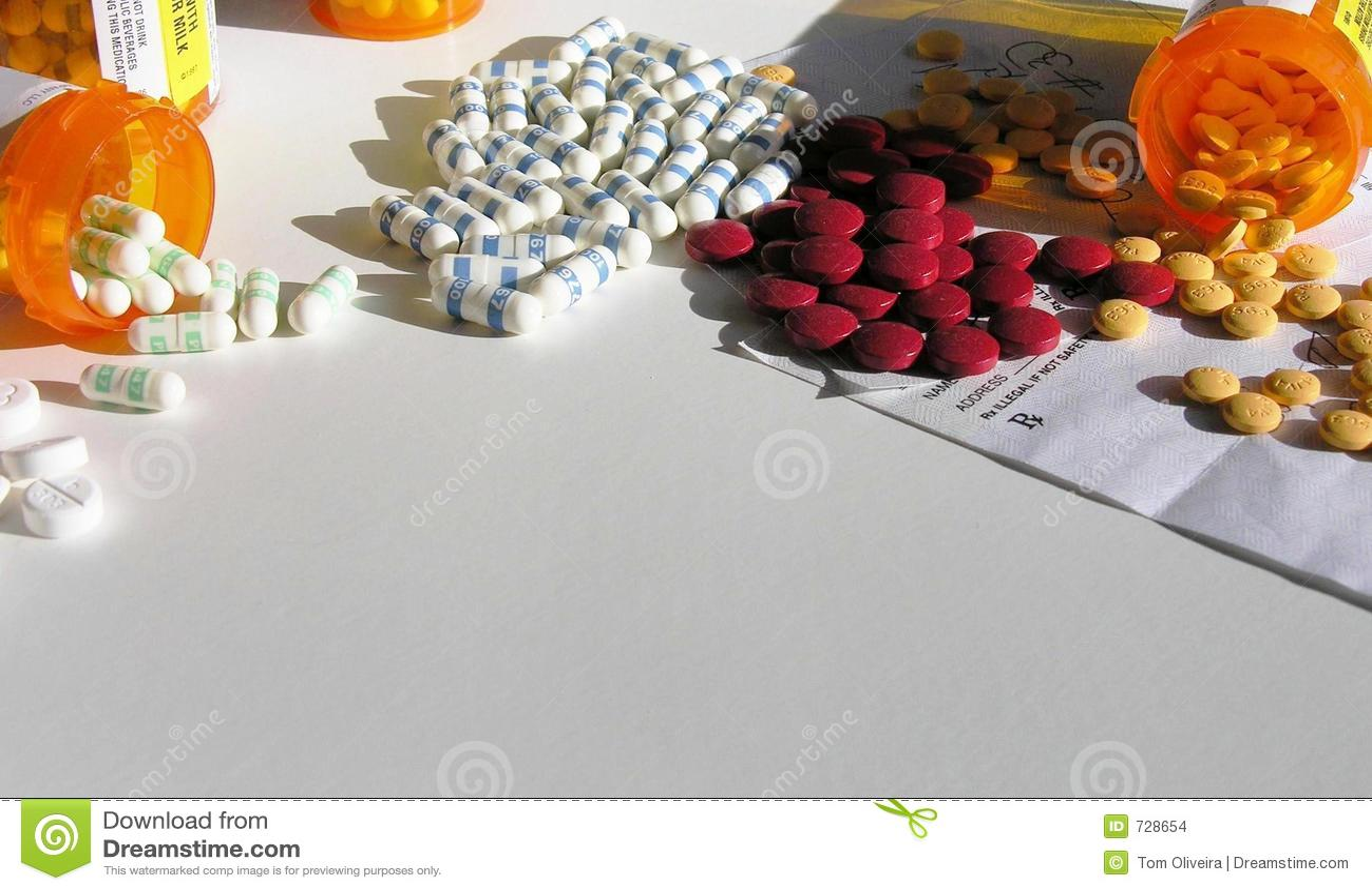 Bouteilles ouvertes de médicament