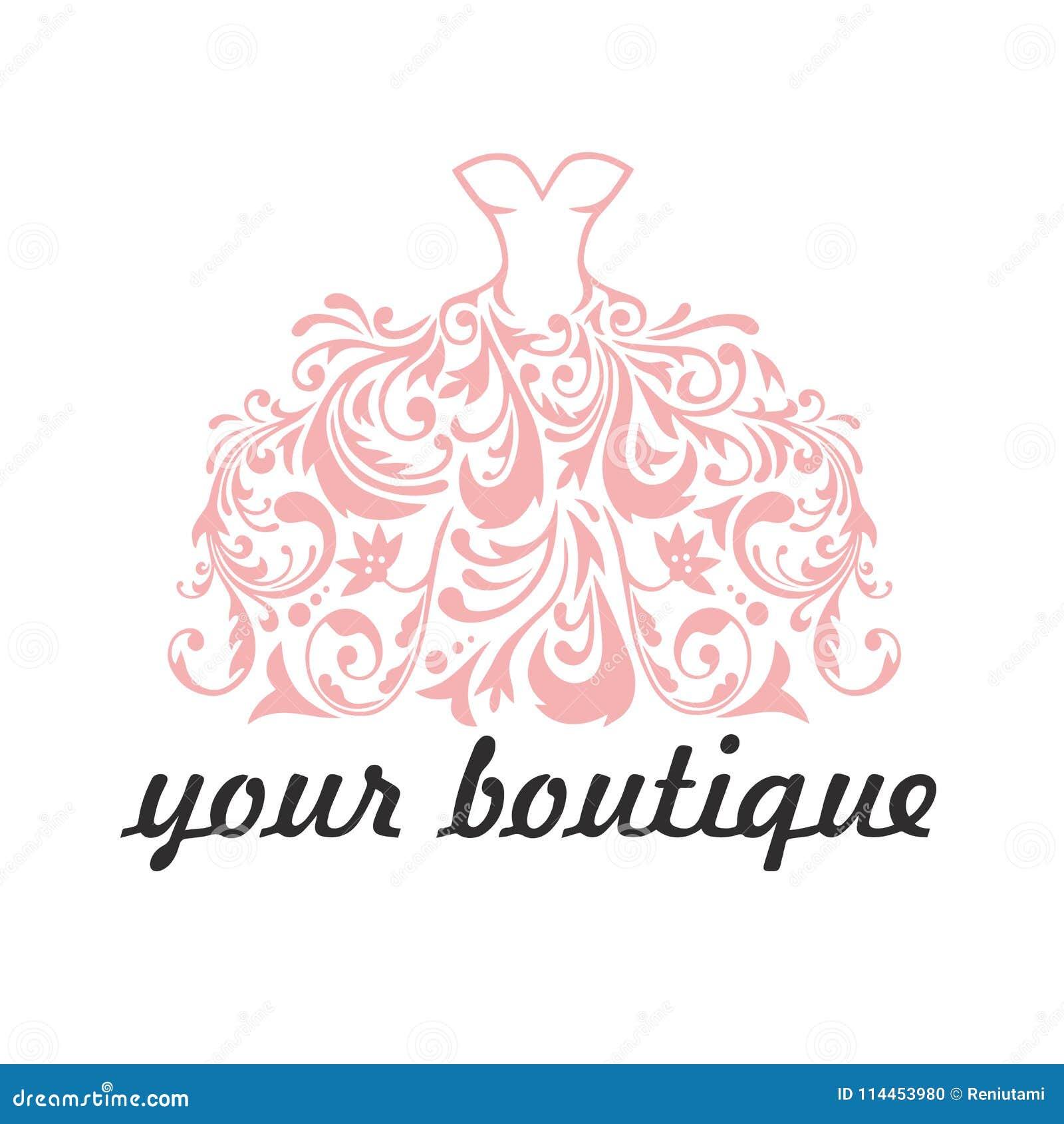 Boutique bridal dress floral logo template illustration vector boutique bridal dress floral logo template illustration vector maxwellsz