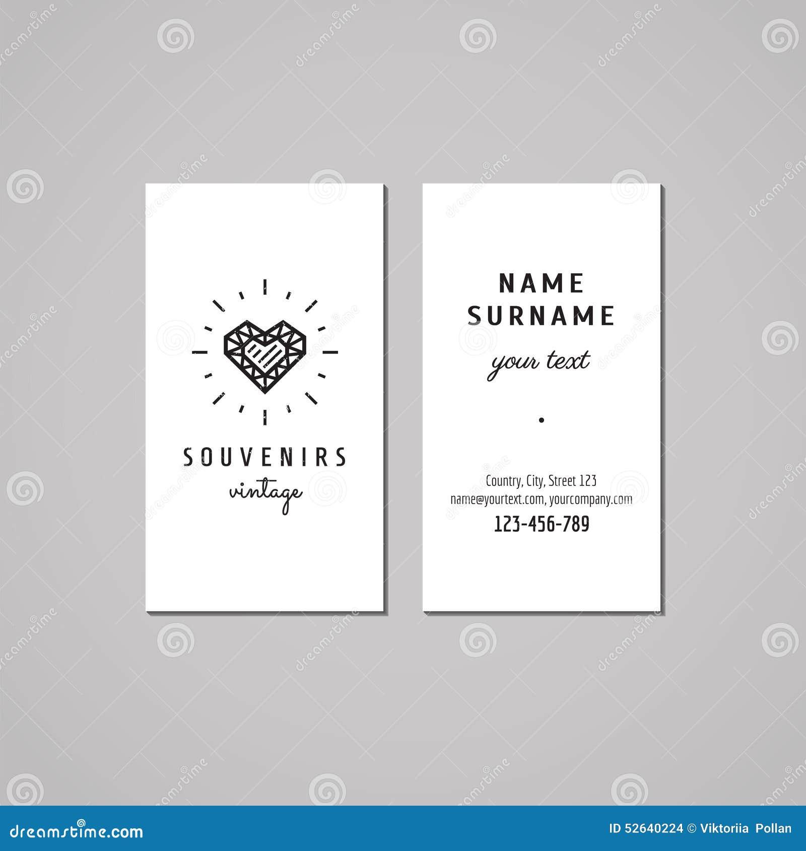 Boutique de cadeaux, souvenirs et concept de design de carte d affaires de magasin de