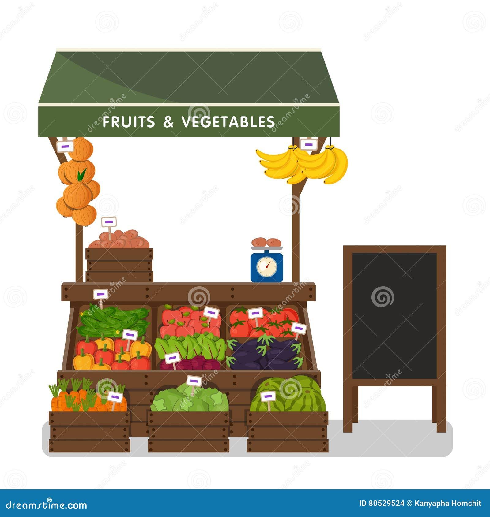 Boutique de ferme Marché local de stalle