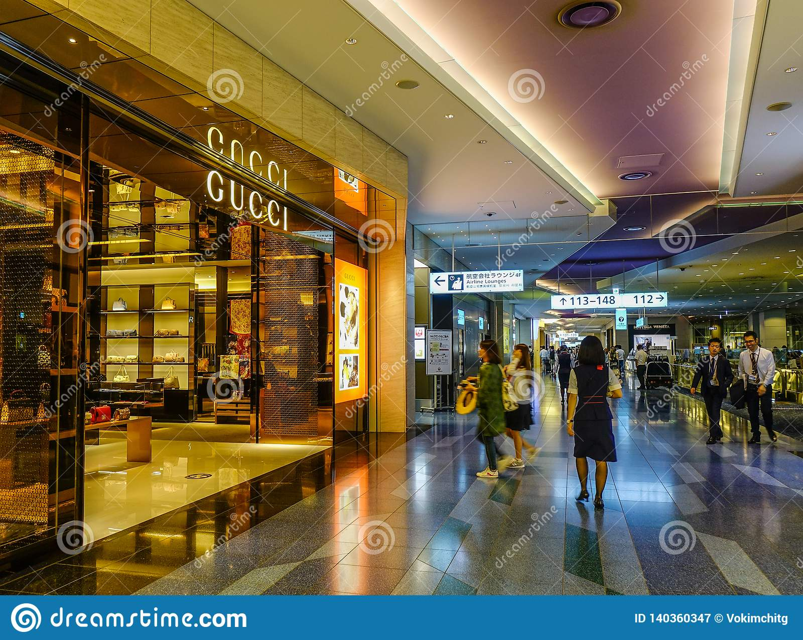 Boutique de Gucci en el aeropuerto de Haneda