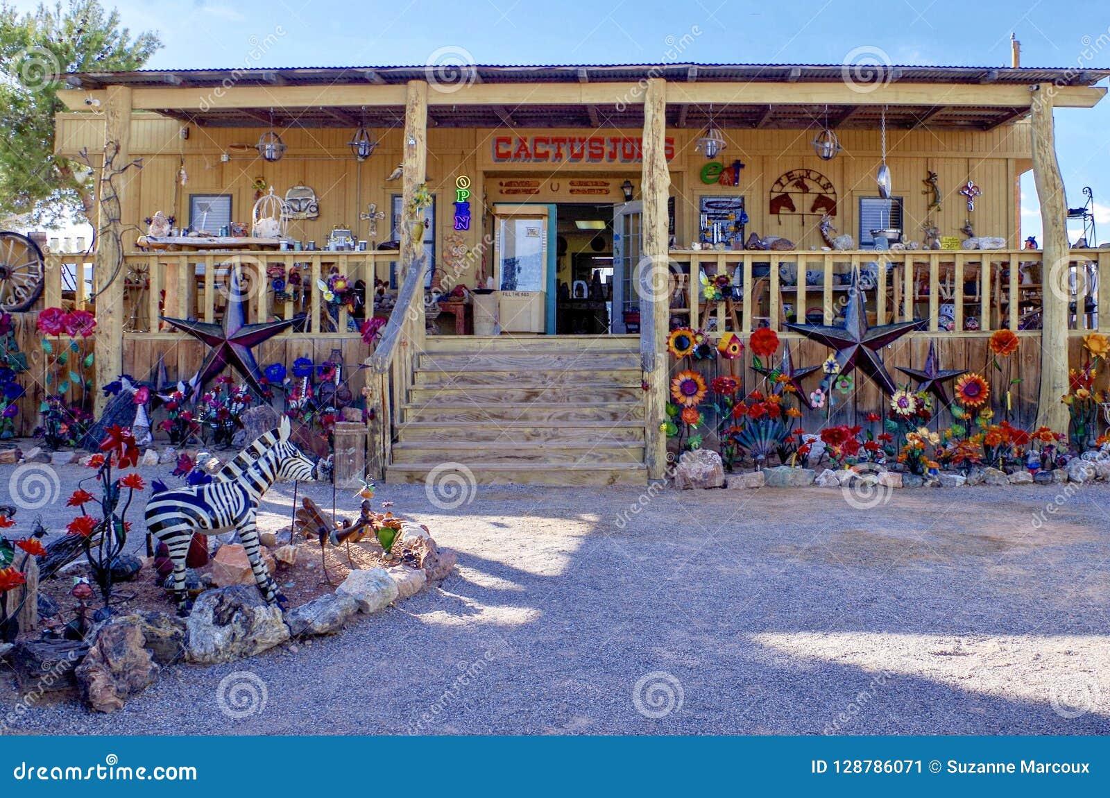 Boutique de souvenirs du ` s de Joe de cactus, Nevada Etats-Unis