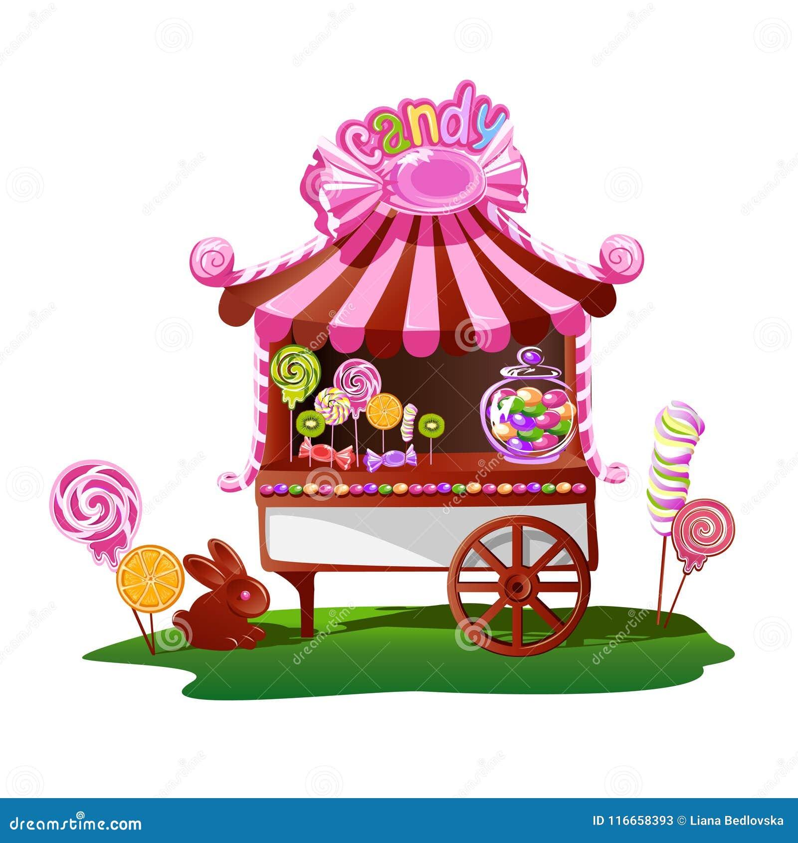 Boutique de sucrerie avec un décor gai