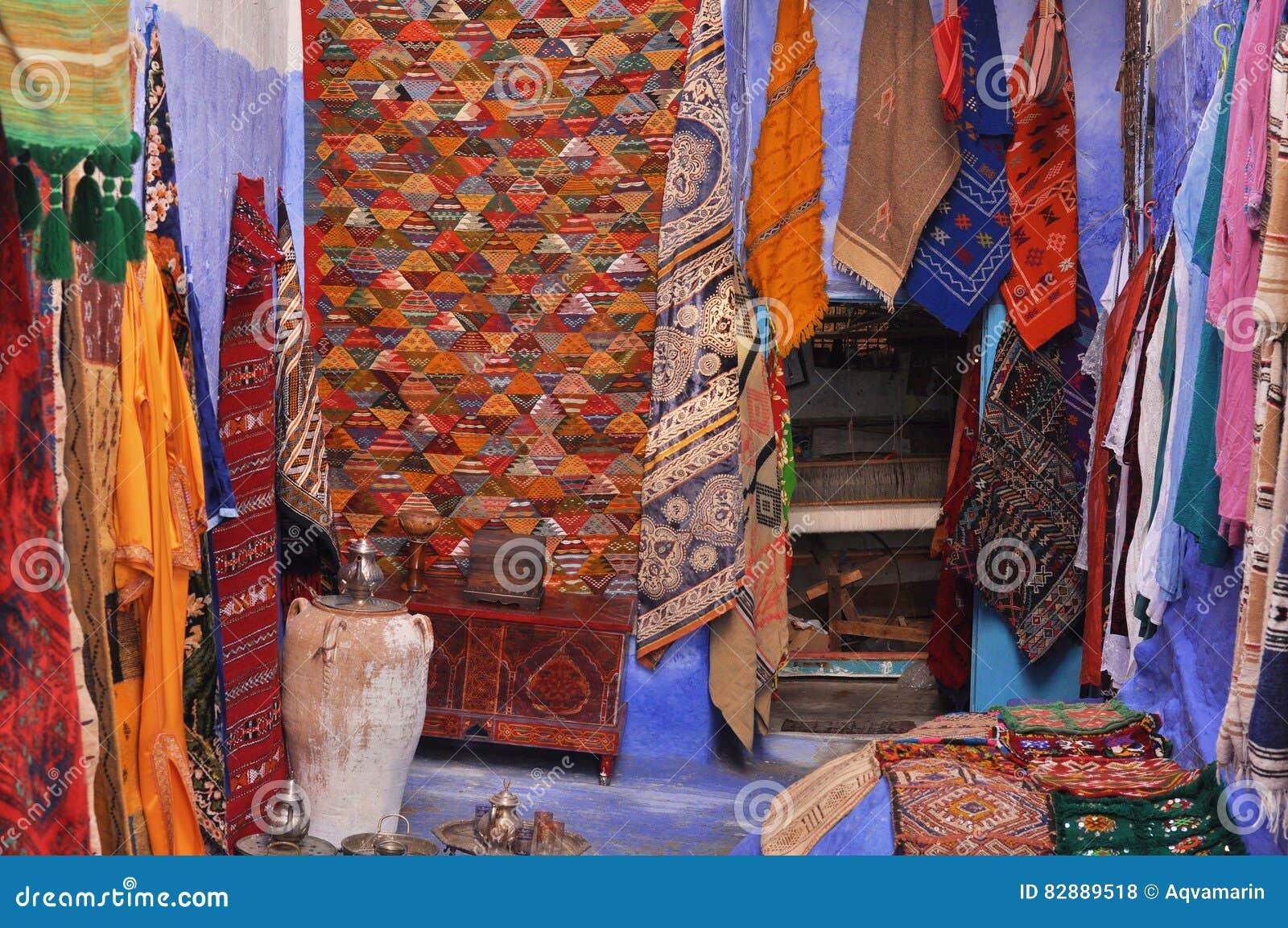 Boutique De Tapis Au Maroc Photo Stock Image Du Tapis 82889518