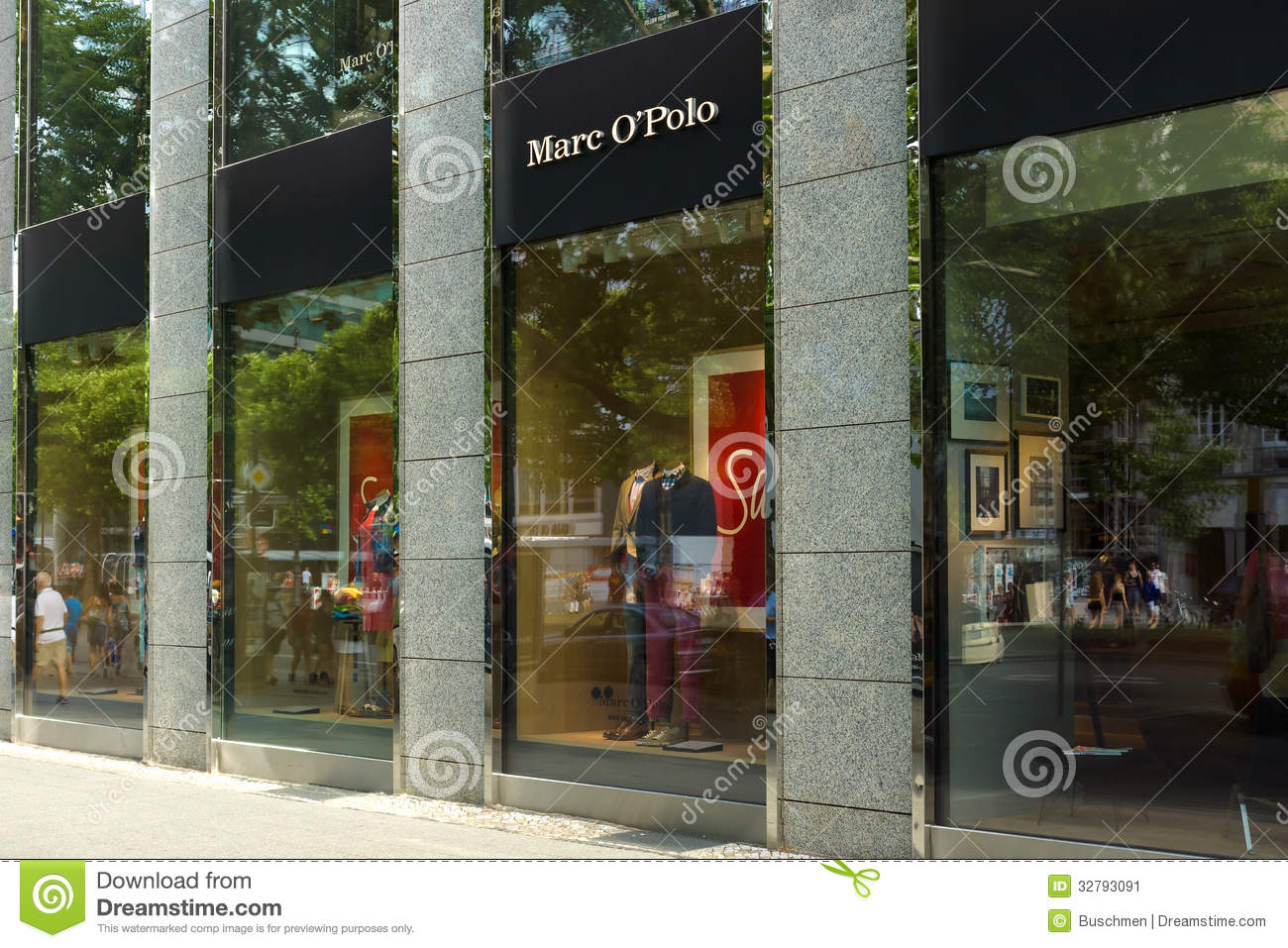 918b69748 BERLIN - AUGUST 03  Boutique Marc O Polo on Kurfuerstendamm. Marc O Polo is  a German clothing brand of Swedish heritage with annual revenues of 404  million ...