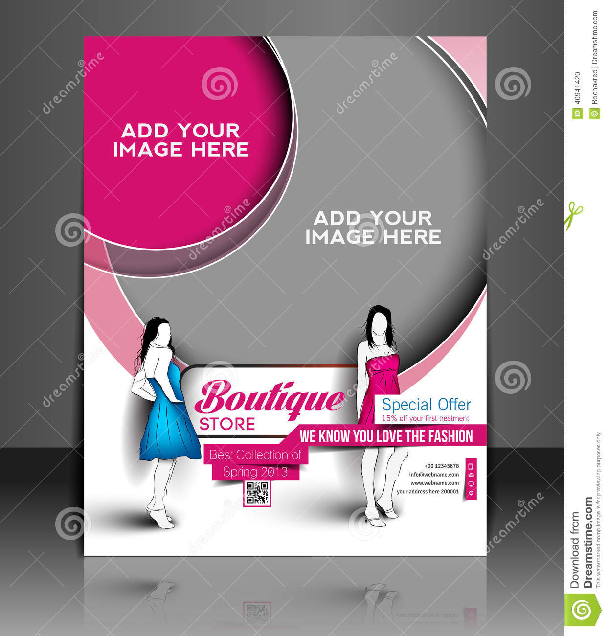 Magazine store mobile ui ux and gui layput royalty free for Brochure design for boutiques