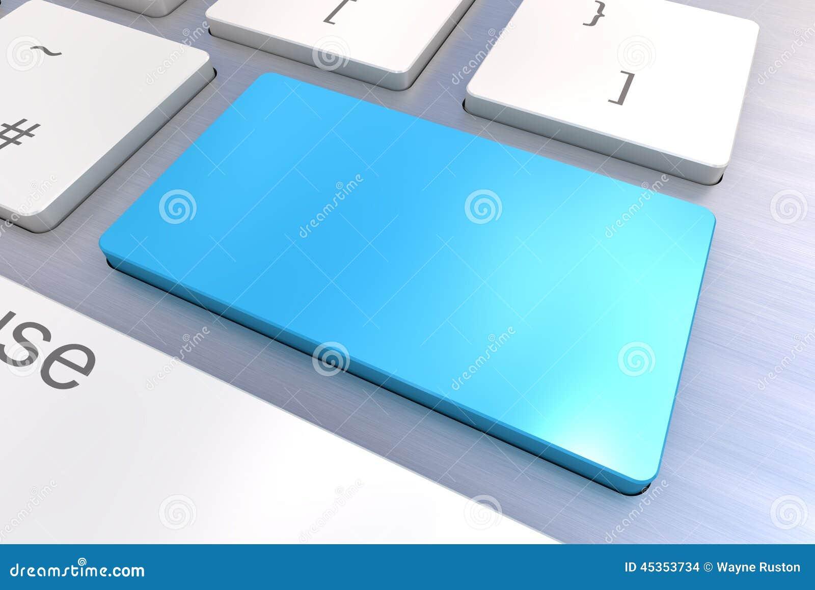 Bouton bleu vide de clavier