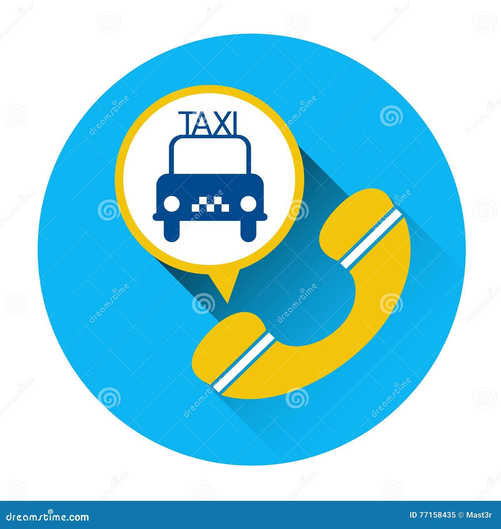 Bouton d application d appel téléphonique de voiture d icône de service de taxi